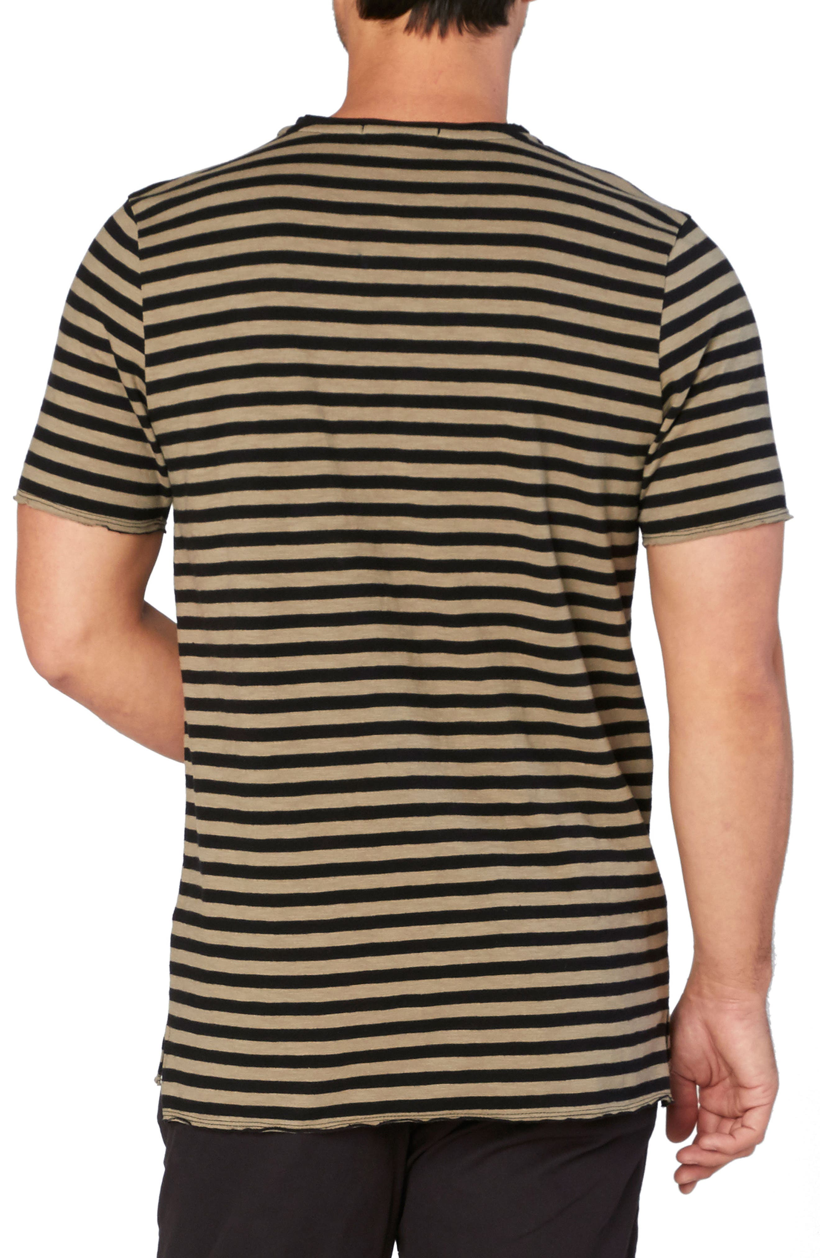 Kane Slub Stripe T-Shirt,                             Alternate thumbnail 2, color,                             Brindle