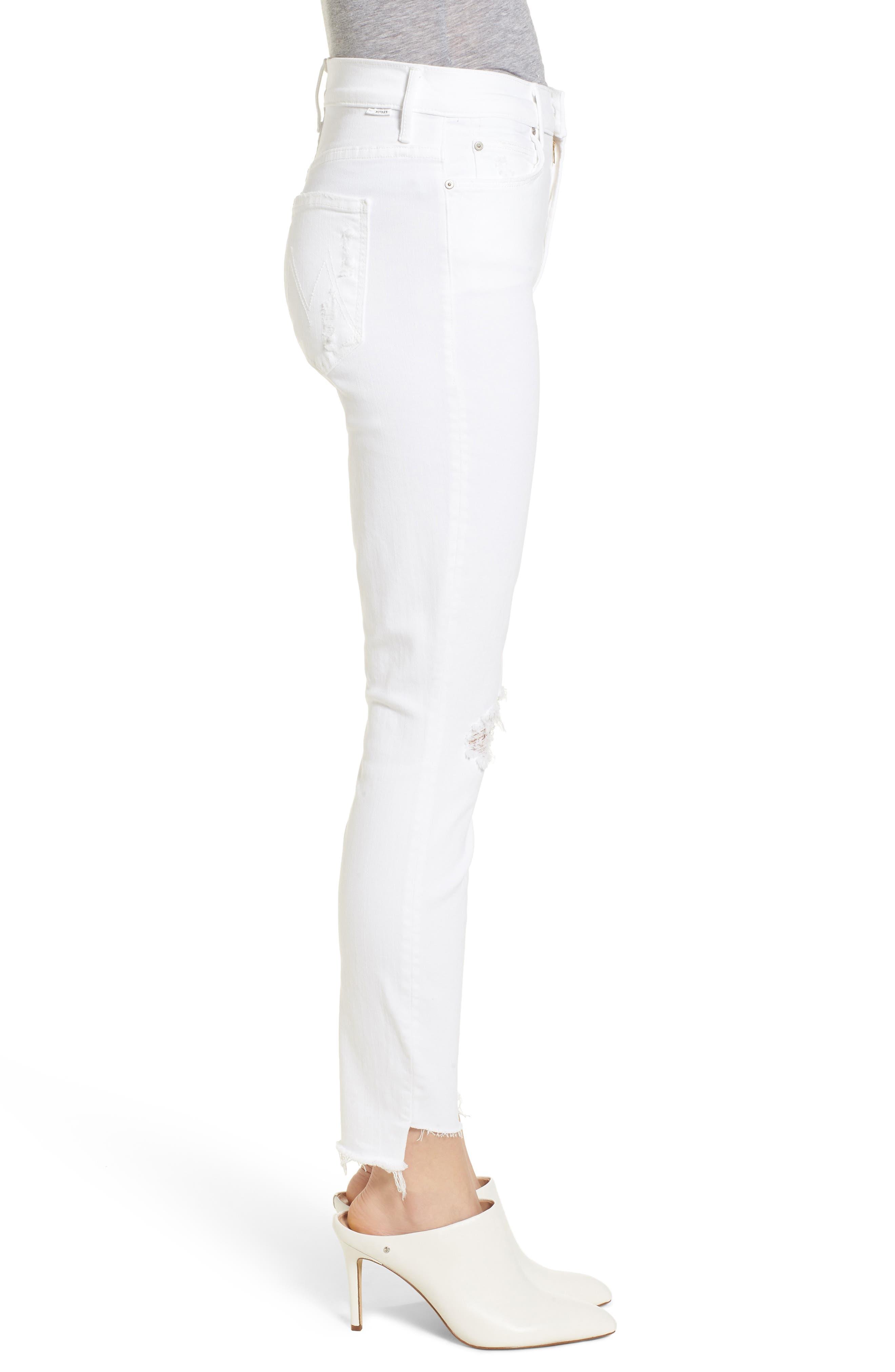 The Stunner High Waist Fray Ankle Skinny Jeans,                             Alternate thumbnail 3, color,                             Little Miss Innocent