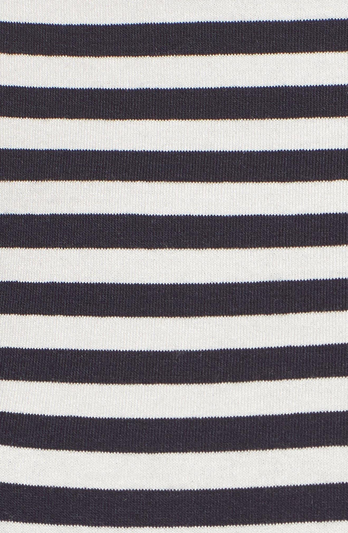 Succulent Lace Back Top,                             Alternate thumbnail 6, color,                             Stripe Mid/ Chalk