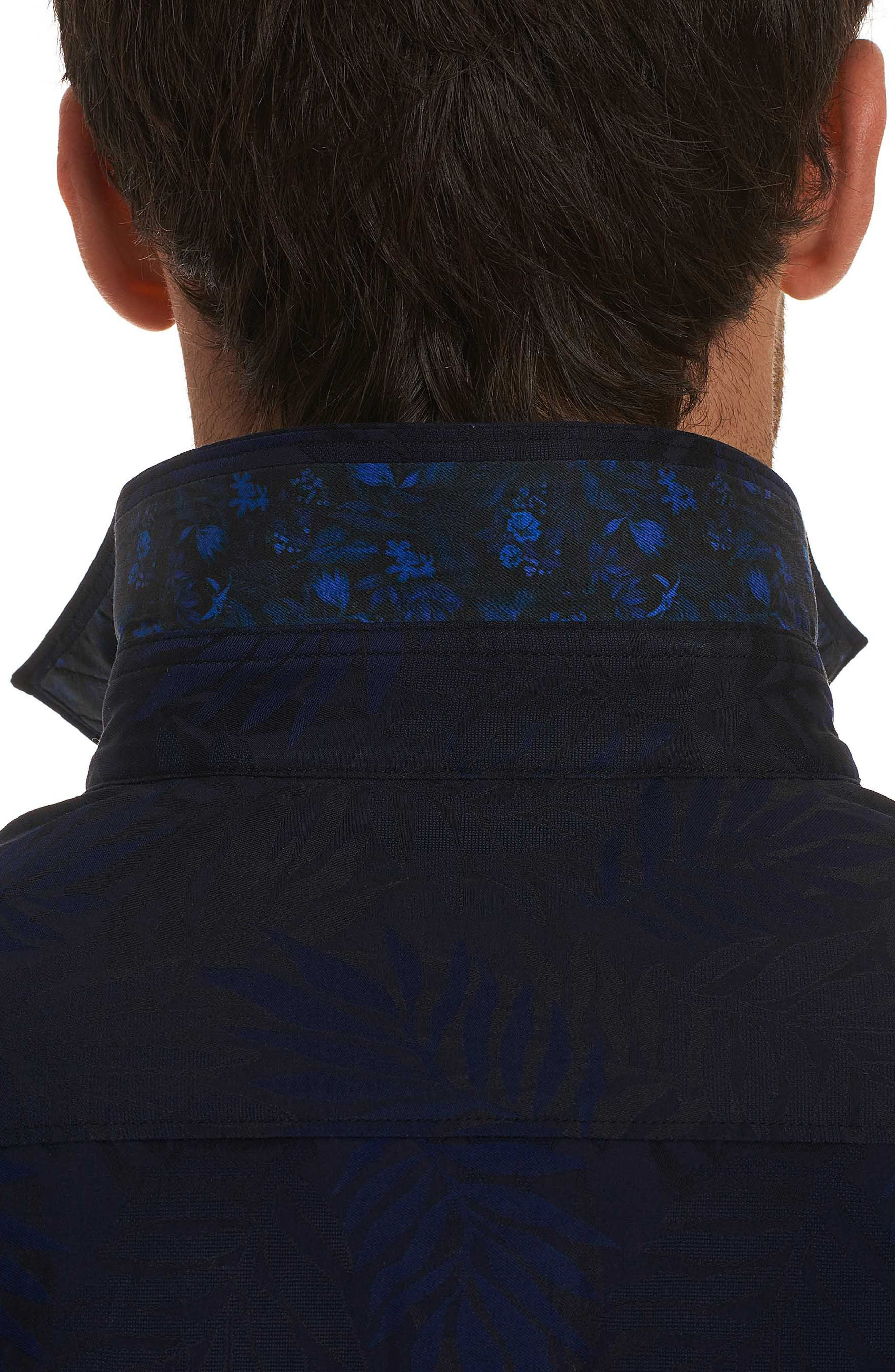 Monte Classic Fit Sport Shirt,                             Alternate thumbnail 4, color,                             Midnight Navy