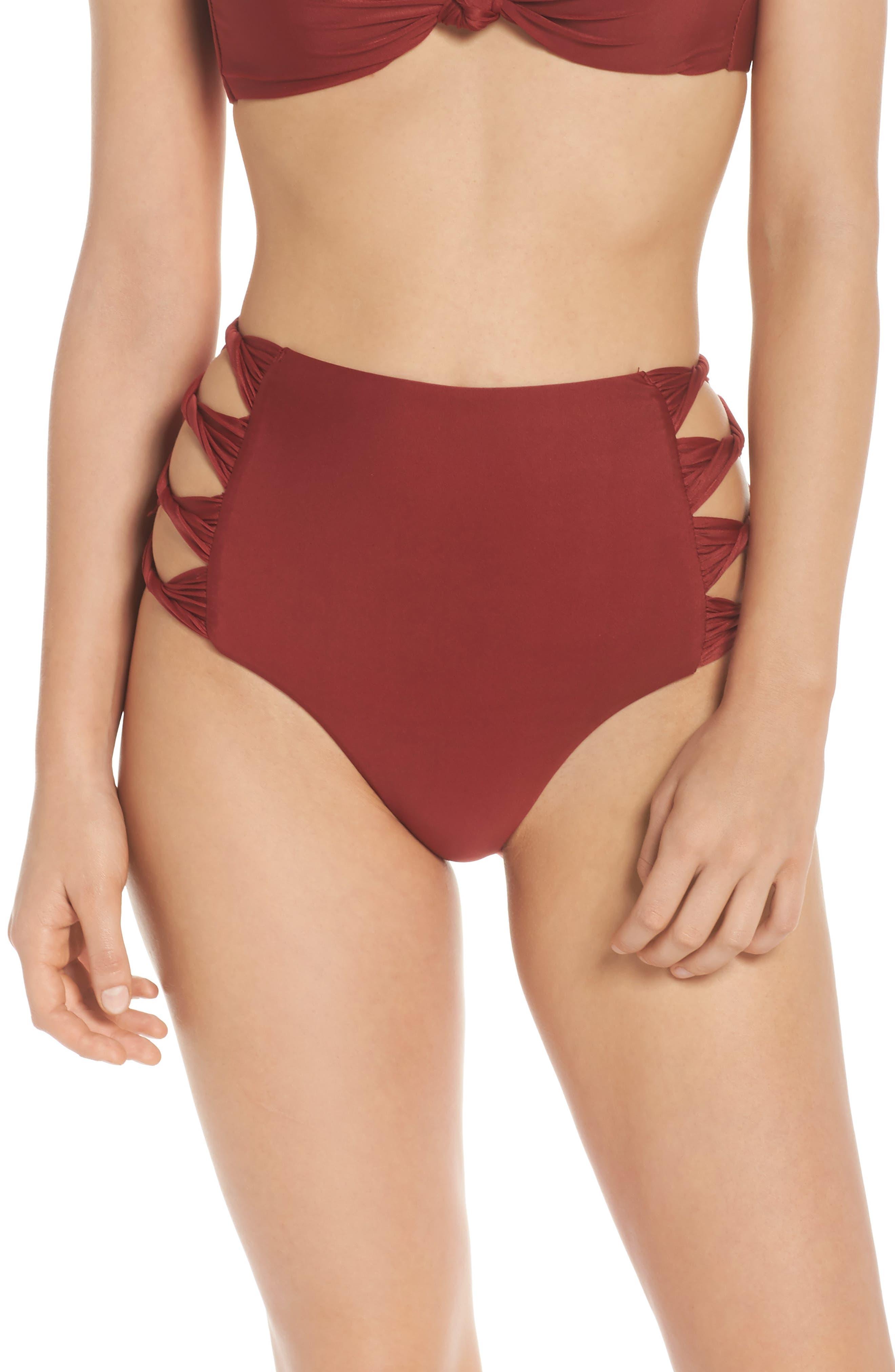 Alternate Image 1 Selected - BCA Love Letters High Waist Bikini Bottoms