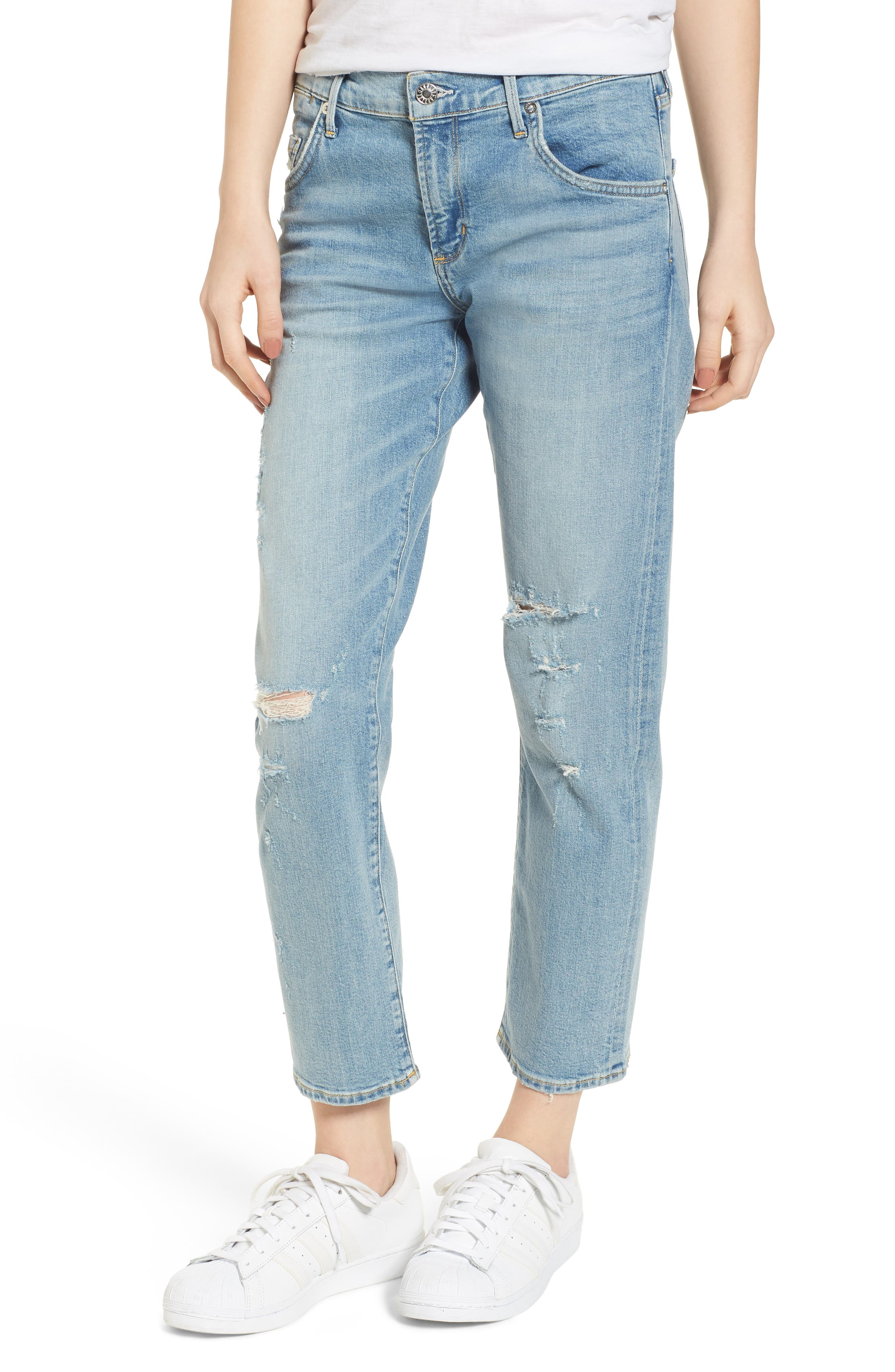 Isabel Ankle Slim Boyfriend Jeans,                             Main thumbnail 1, color,                             Dreamer