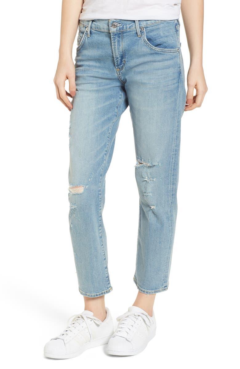 Isabel Ankle Slim Boyfriend Jeans