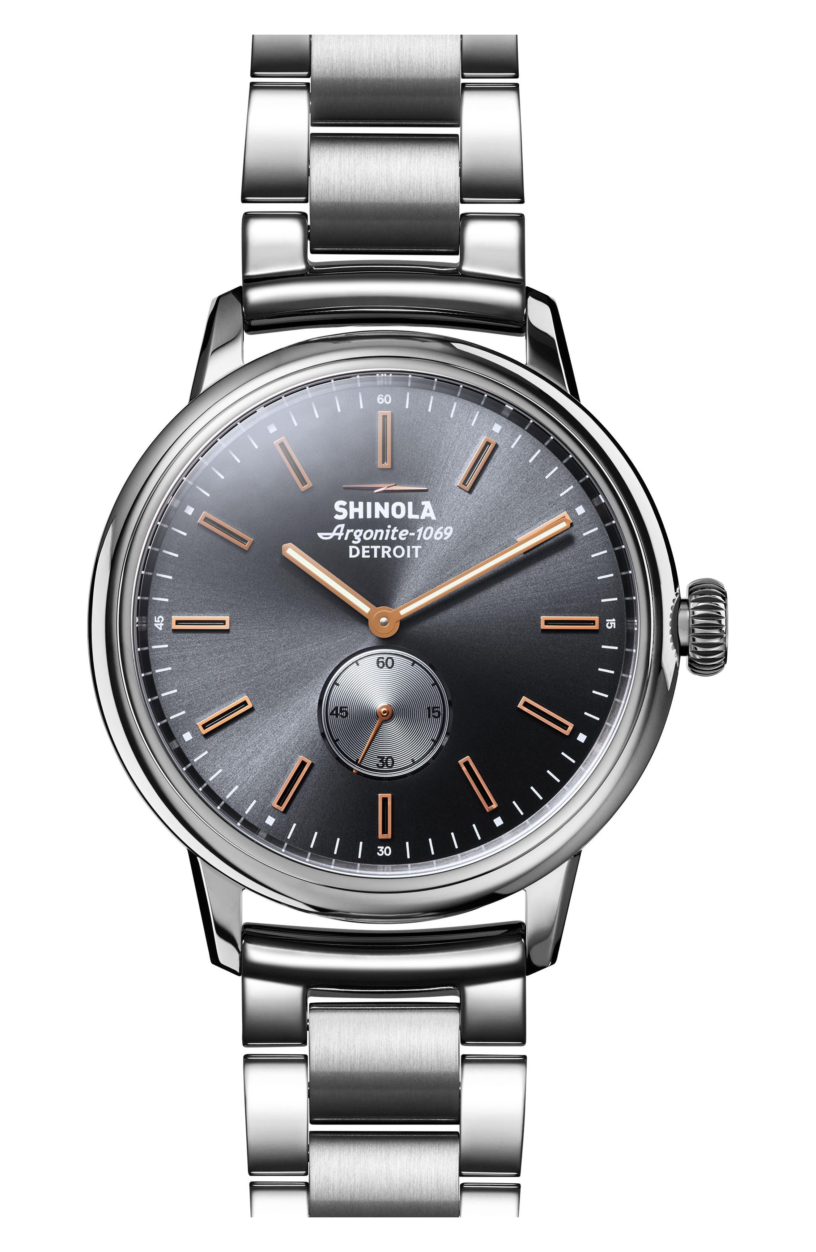 Alternate Image 1 Selected - Shinola Bedrock Bracelet Watch, 42mm
