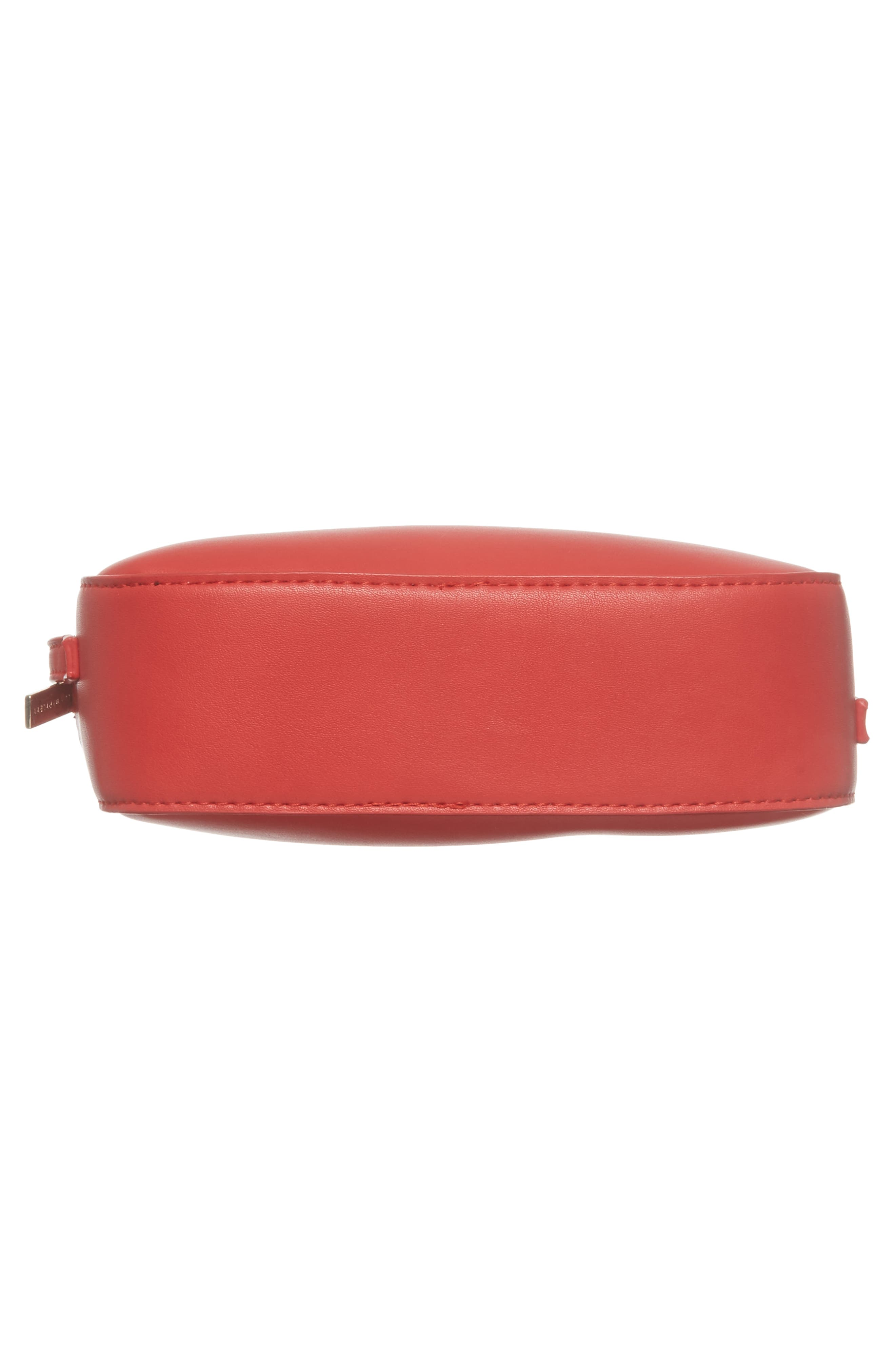 Faux Leather Box Bag,                             Alternate thumbnail 6, color,                             Red