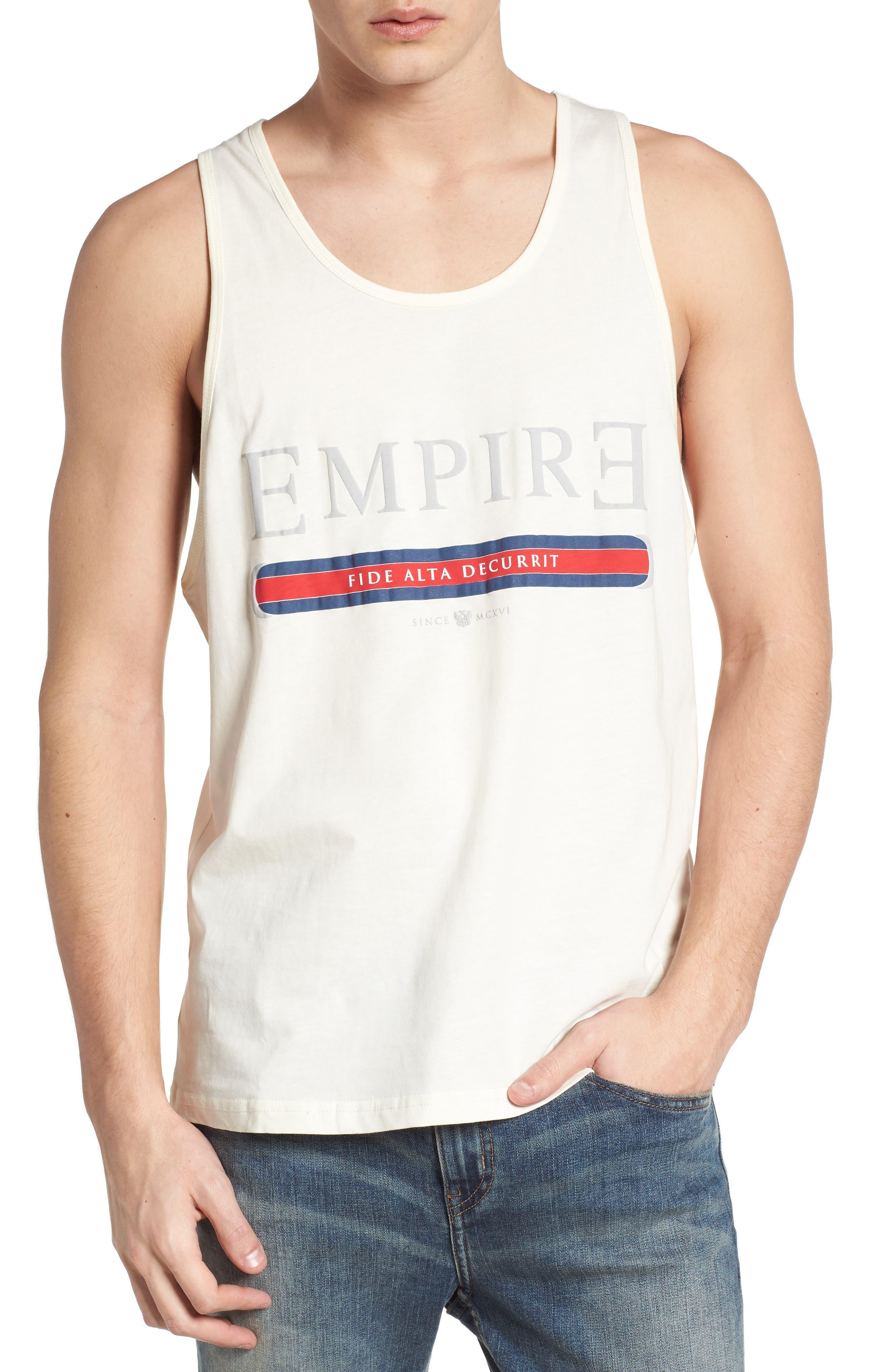 Main Image - Topman Empire Fide Alta Decurrit Graphic Tank