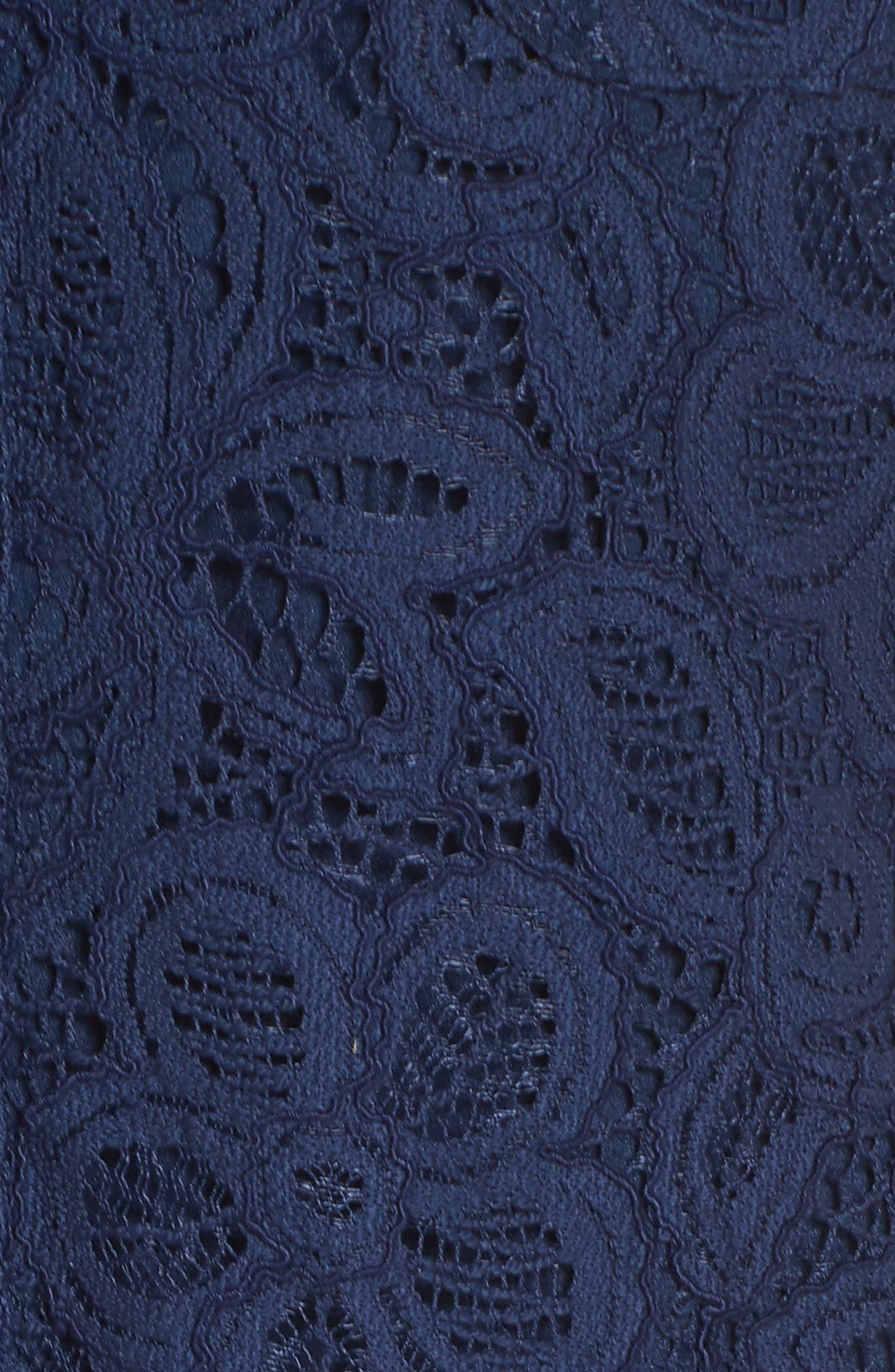 Nelle Shirtdress,                             Alternate thumbnail 5, color,                             High Tide Floral Pop Lace