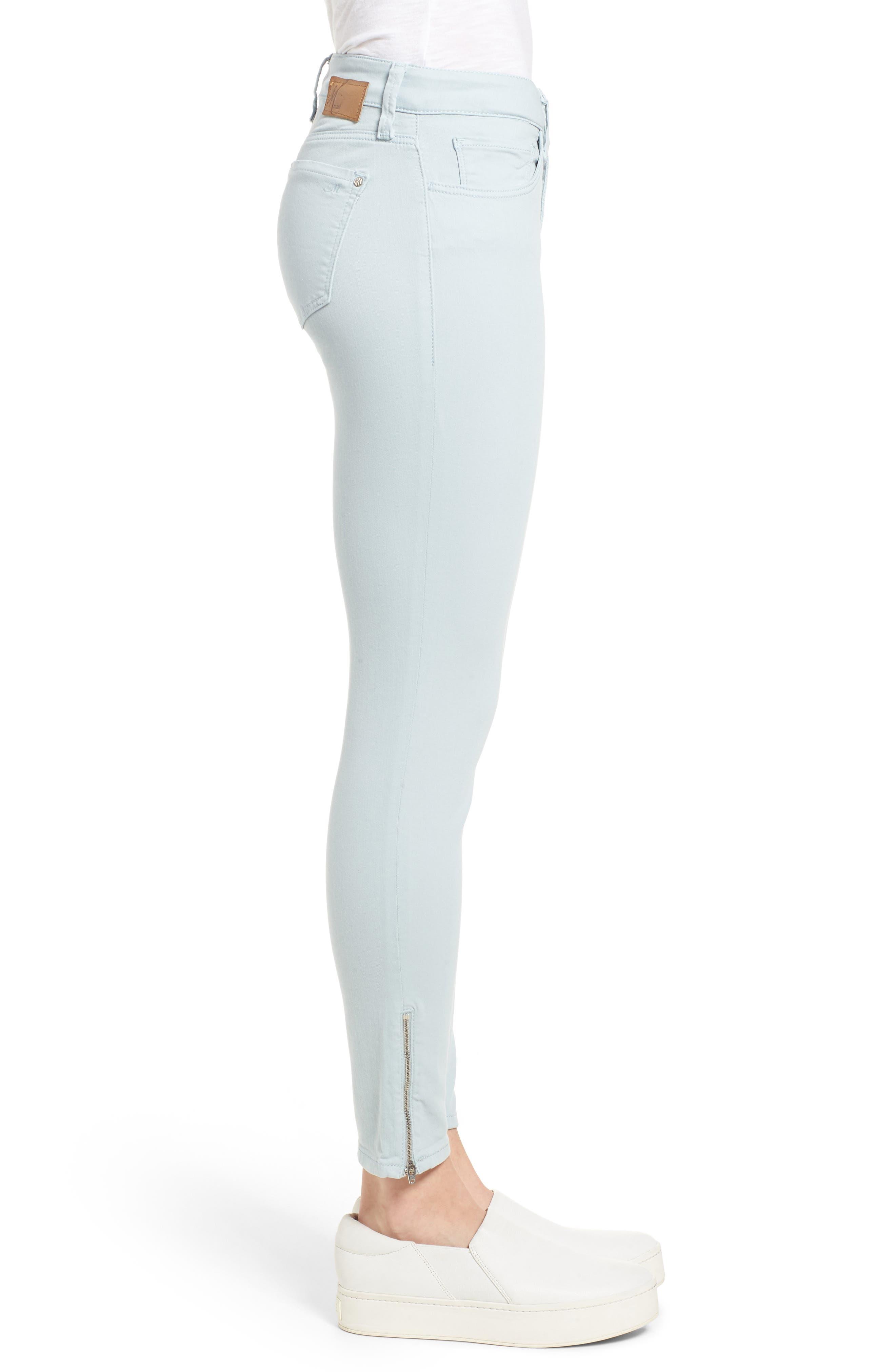 Adriana Zip Ankle Super Skinny Jeans,                             Alternate thumbnail 3, color,                             Zip Slate Twill
