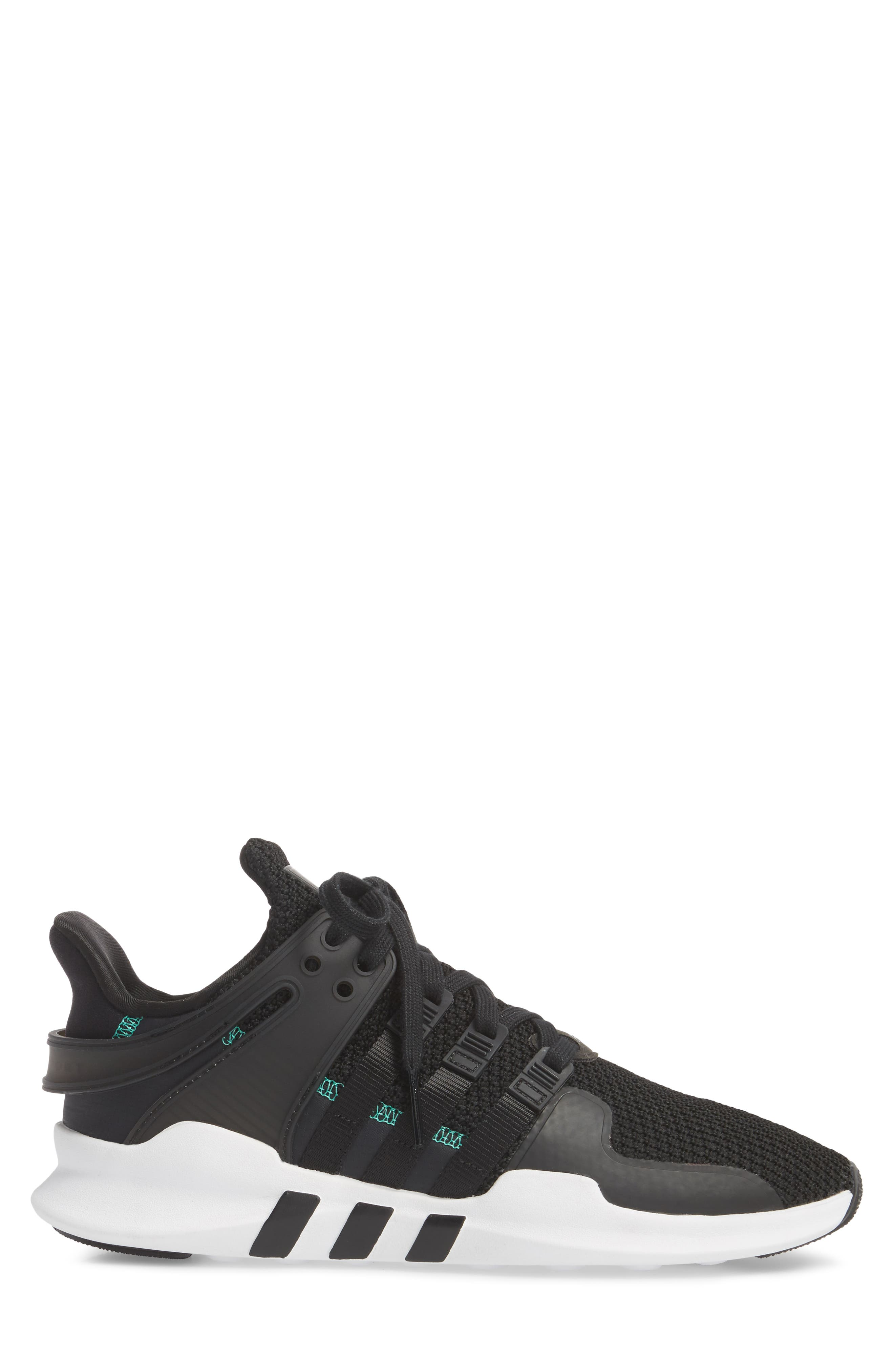 EQT Support Adv Sneaker,                             Alternate thumbnail 3, color,                             Core Black/ White