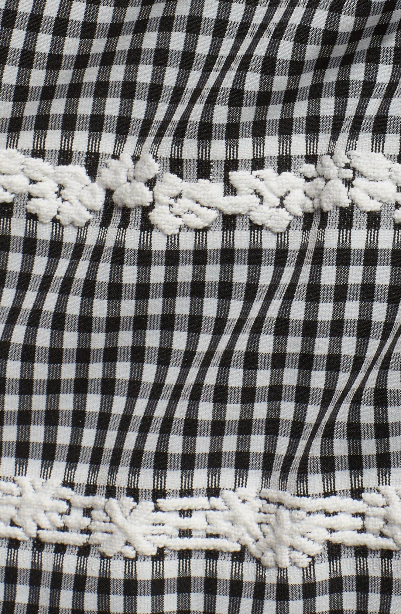 Belle Midi Dress,                             Alternate thumbnail 5, color,                             Black/ White
