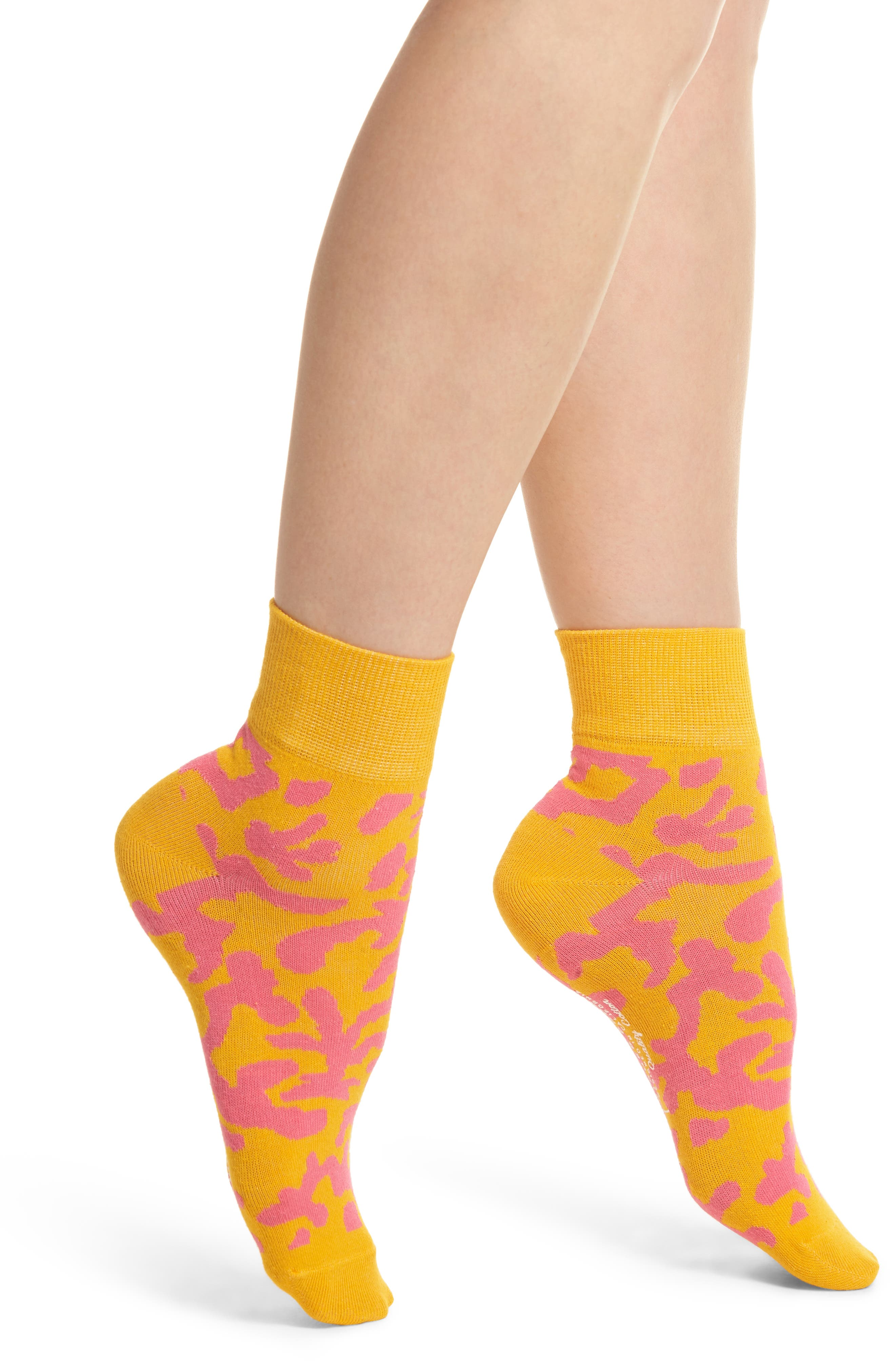 Main Image - Richer Poorer Coral Will Bryant Crew Socks
