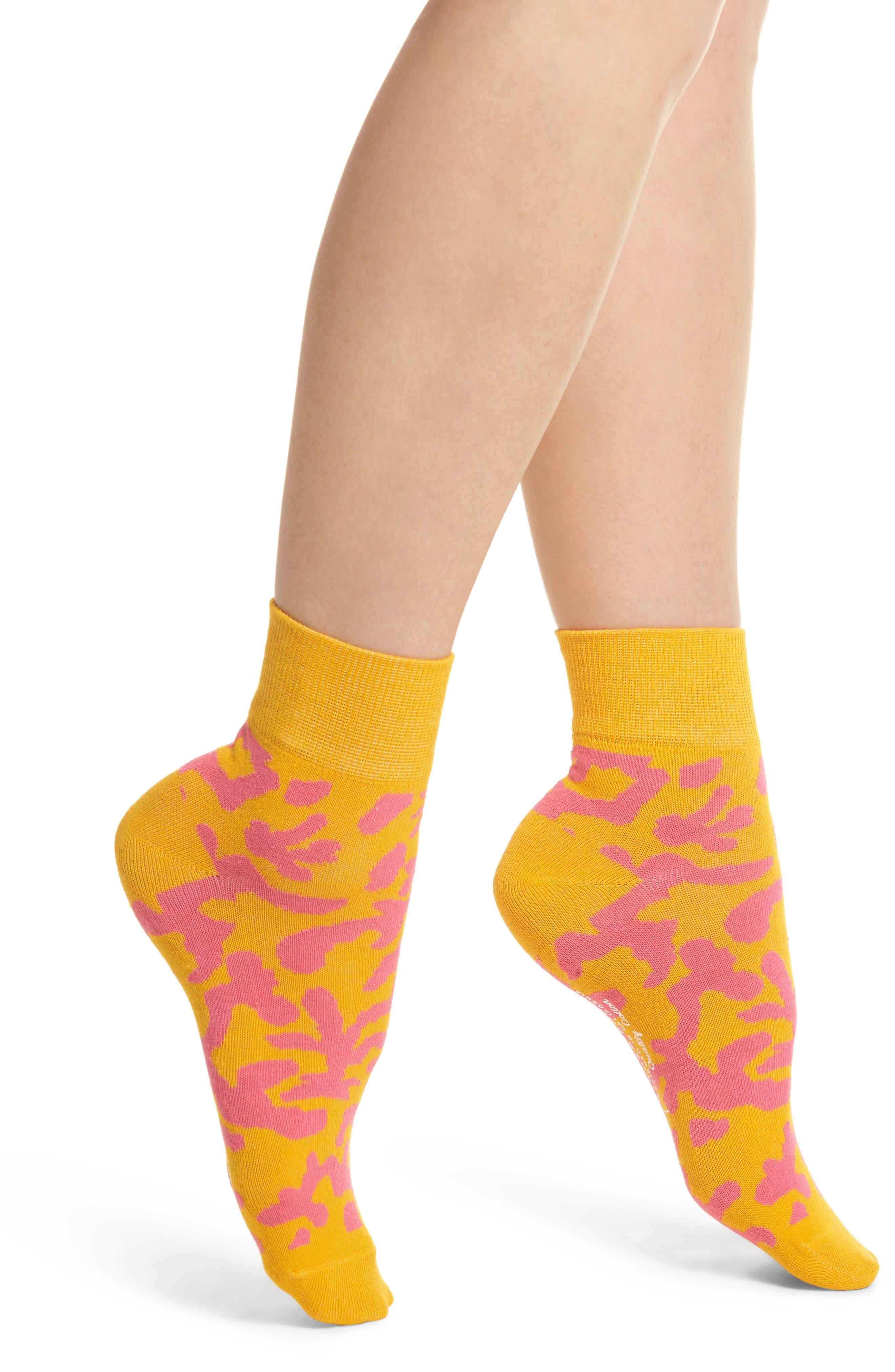 Coral Will Bryant Crew Socks,                         Main,                         color, Orange