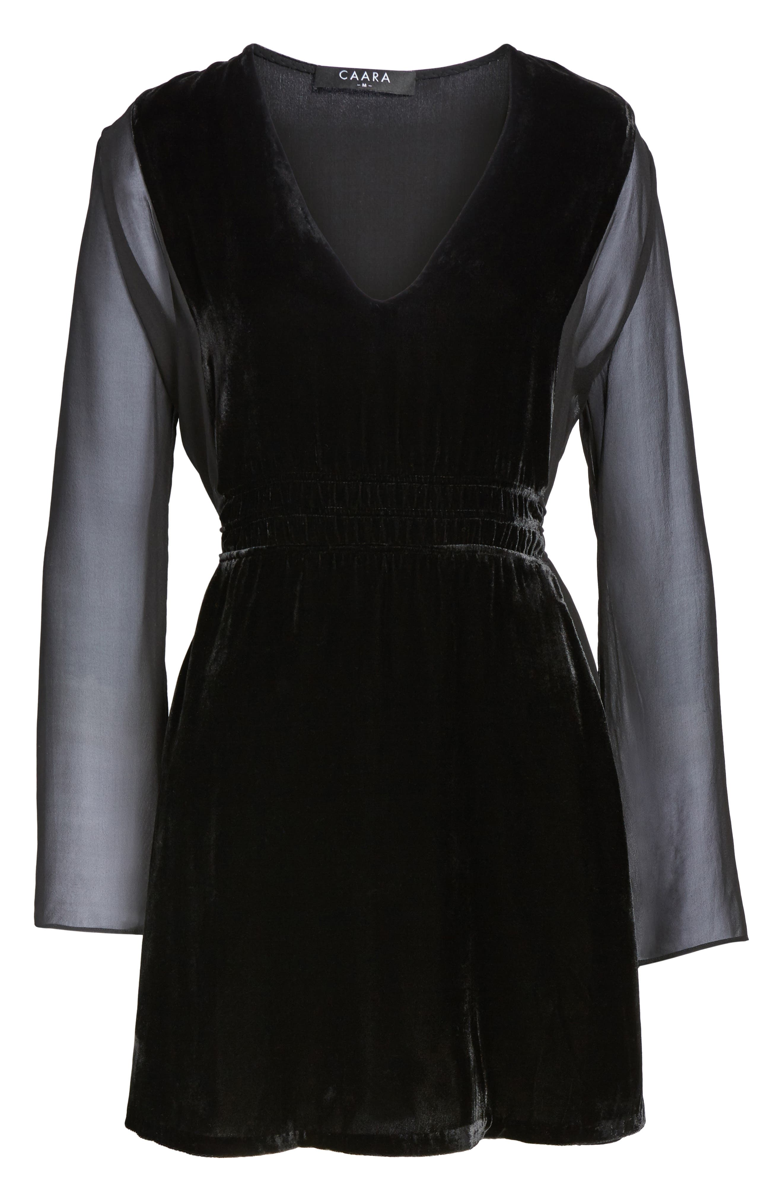 Her Story Velvet Dress,                             Alternate thumbnail 6, color,                             Black