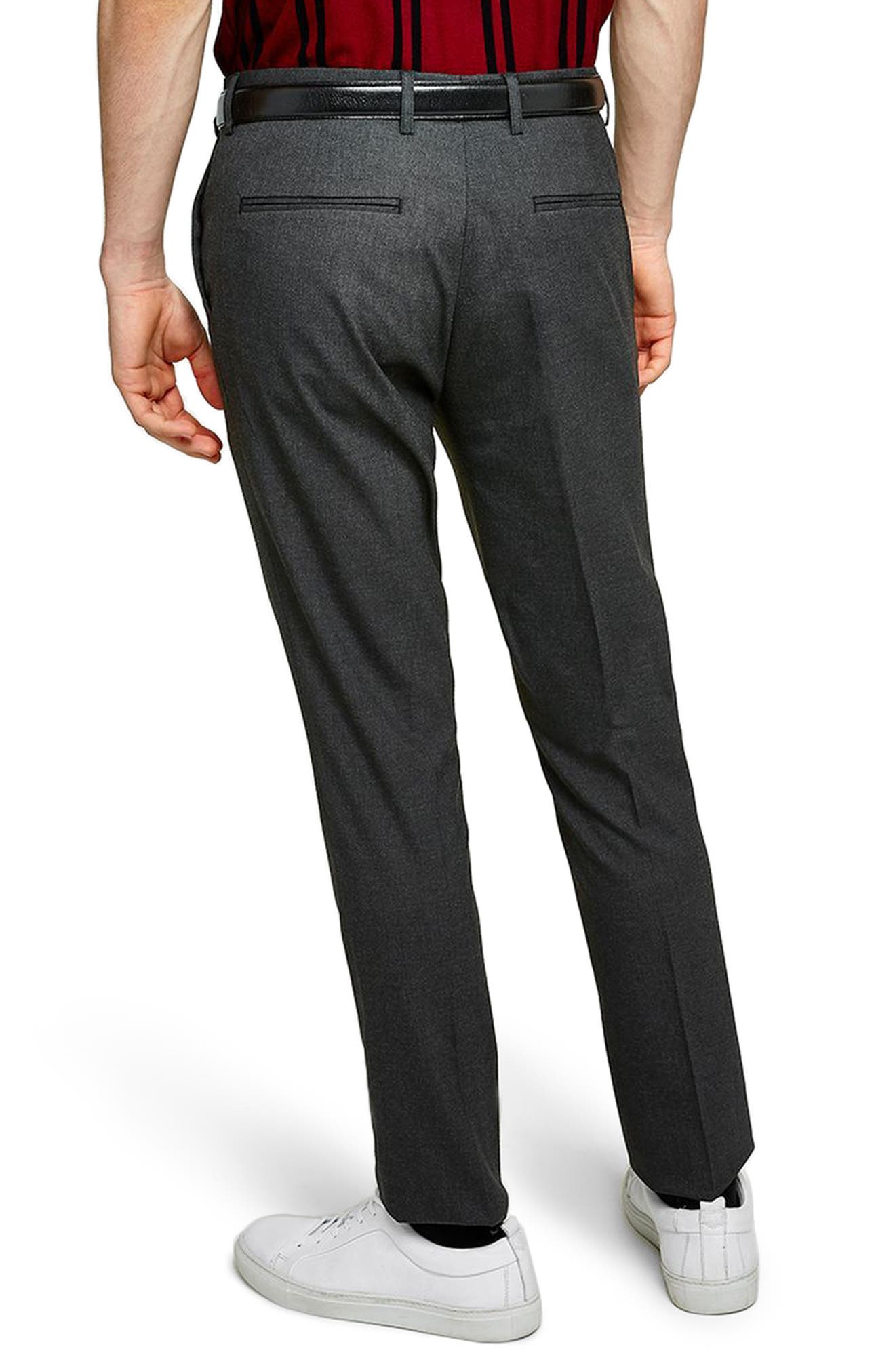Skinny Fit Trousers,                             Alternate thumbnail 2, color,                             Charcoal