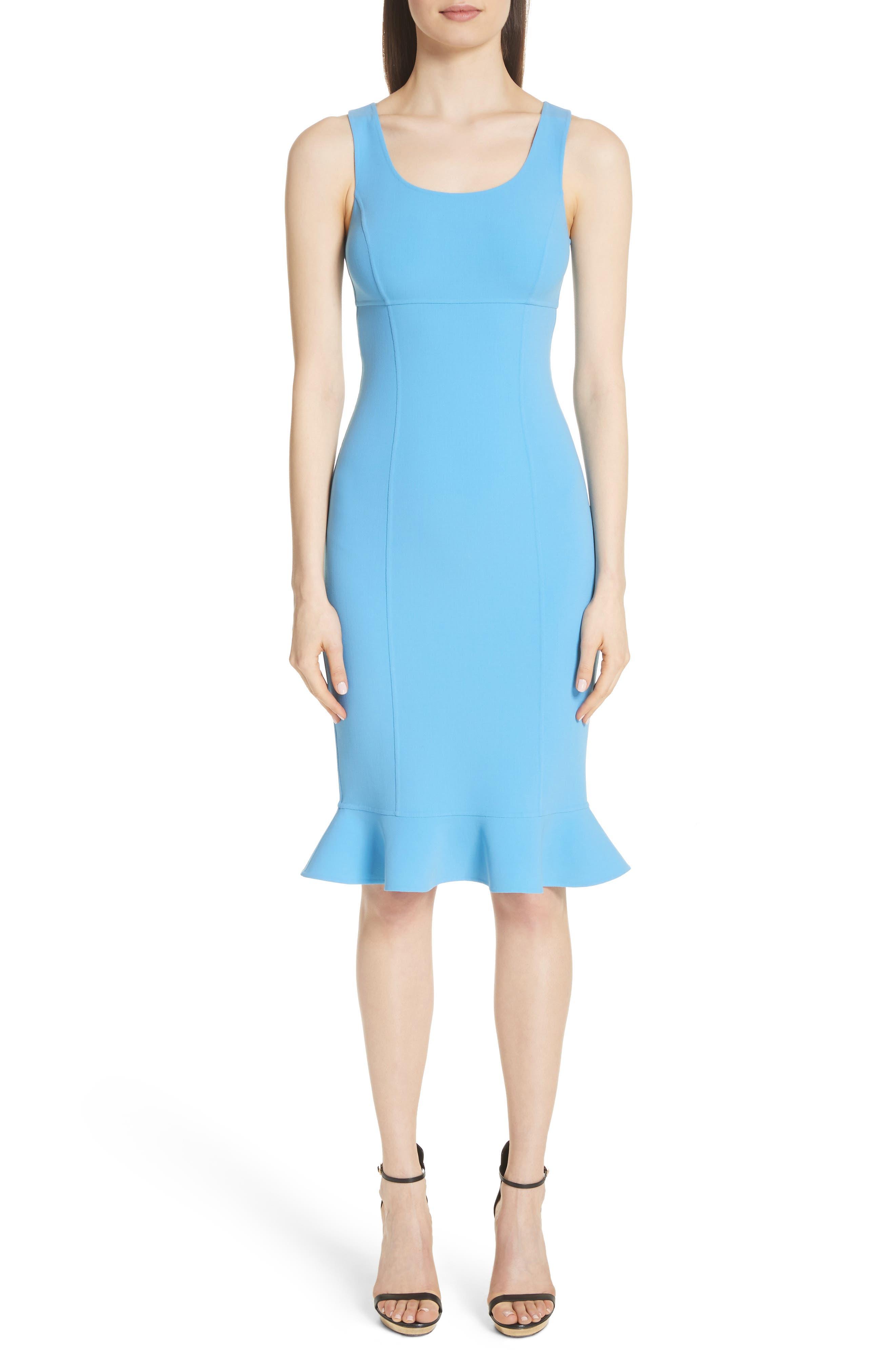Michael Kors Ruffle Hem Stretch Wool Dress