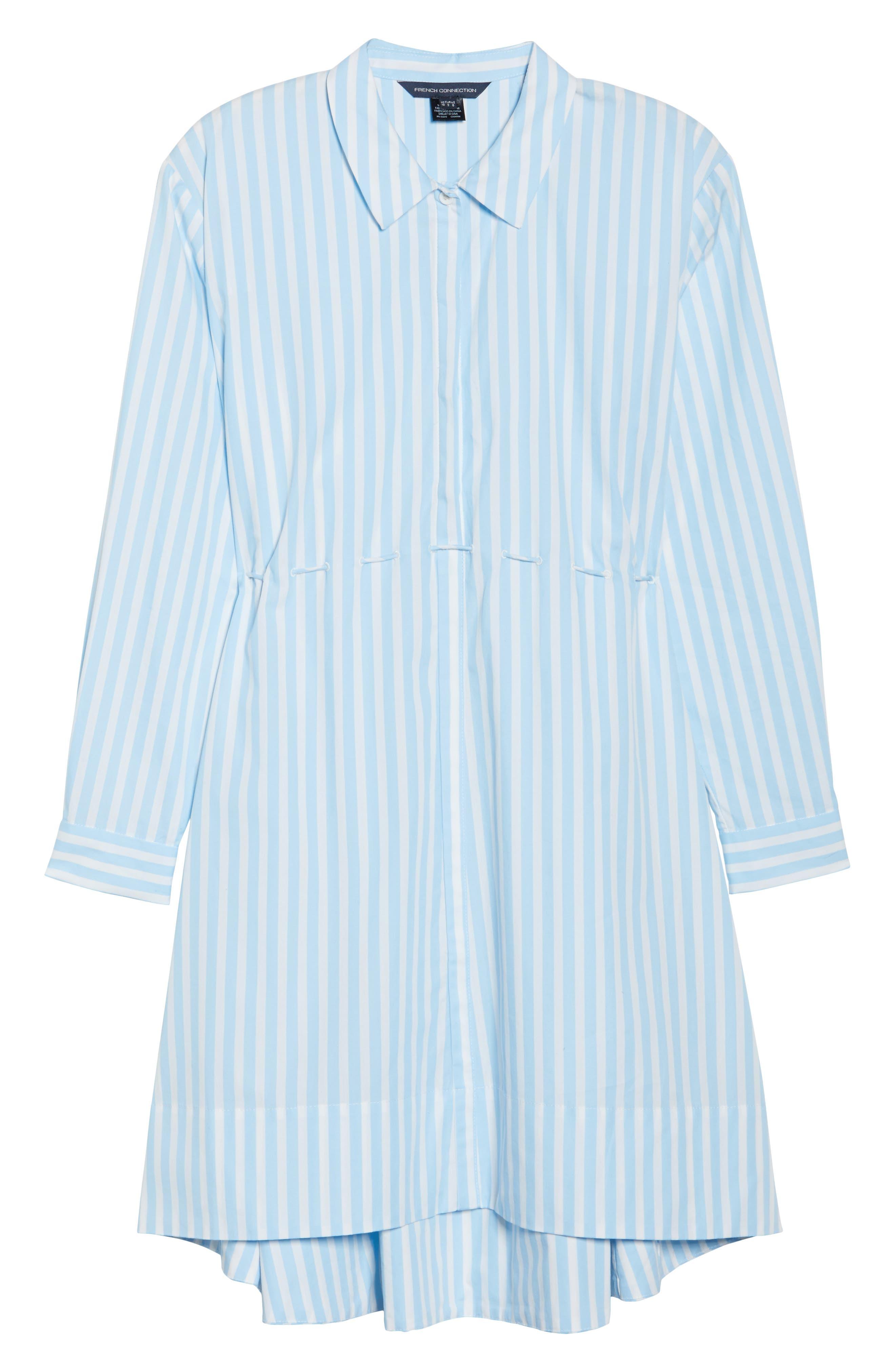 Smithson Stripe Shirtdress,                             Alternate thumbnail 6, color,                             Dream Blue