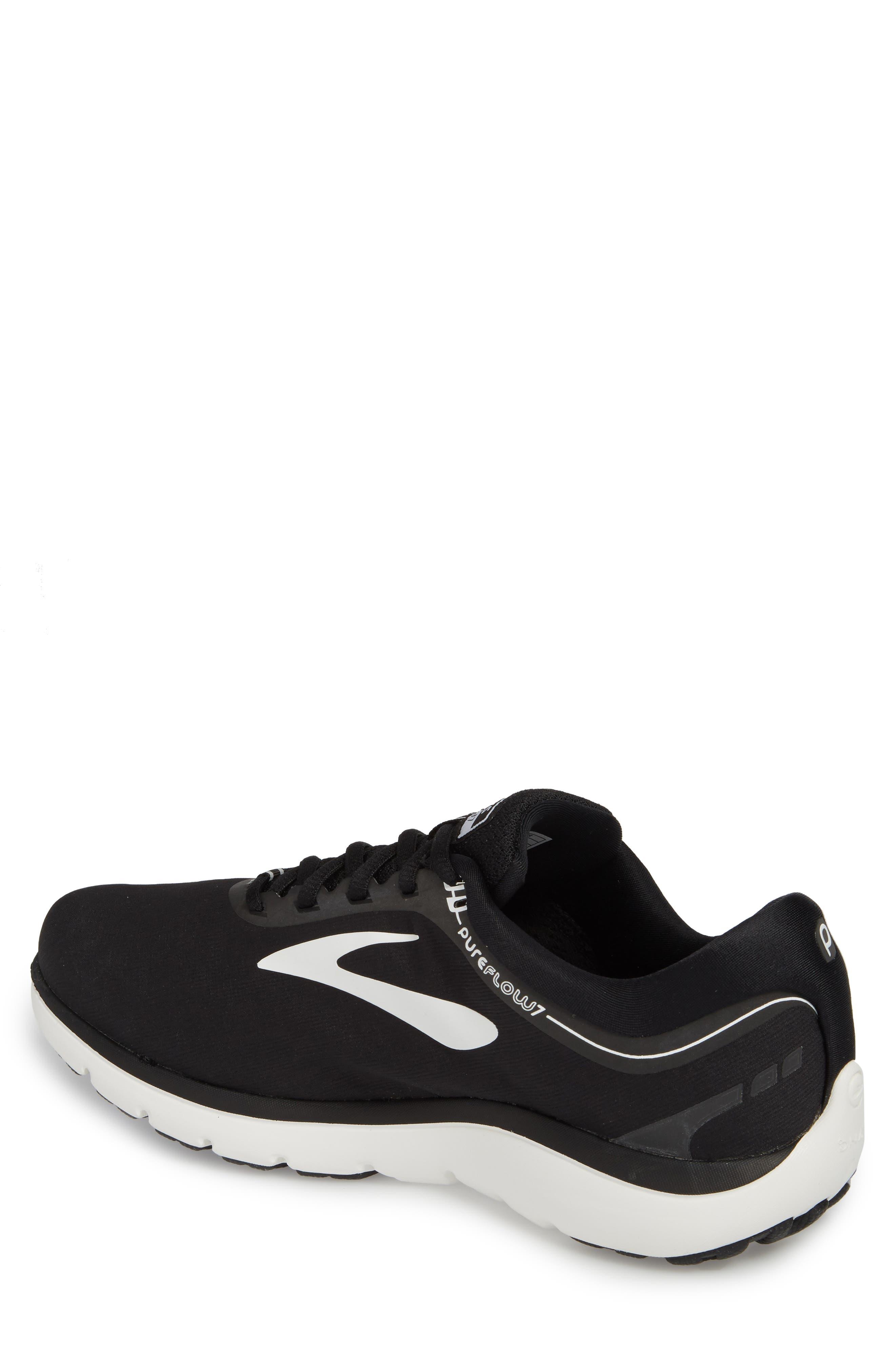 PureFlow 7 Running Shoe,                             Alternate thumbnail 2, color,                             Black/ White