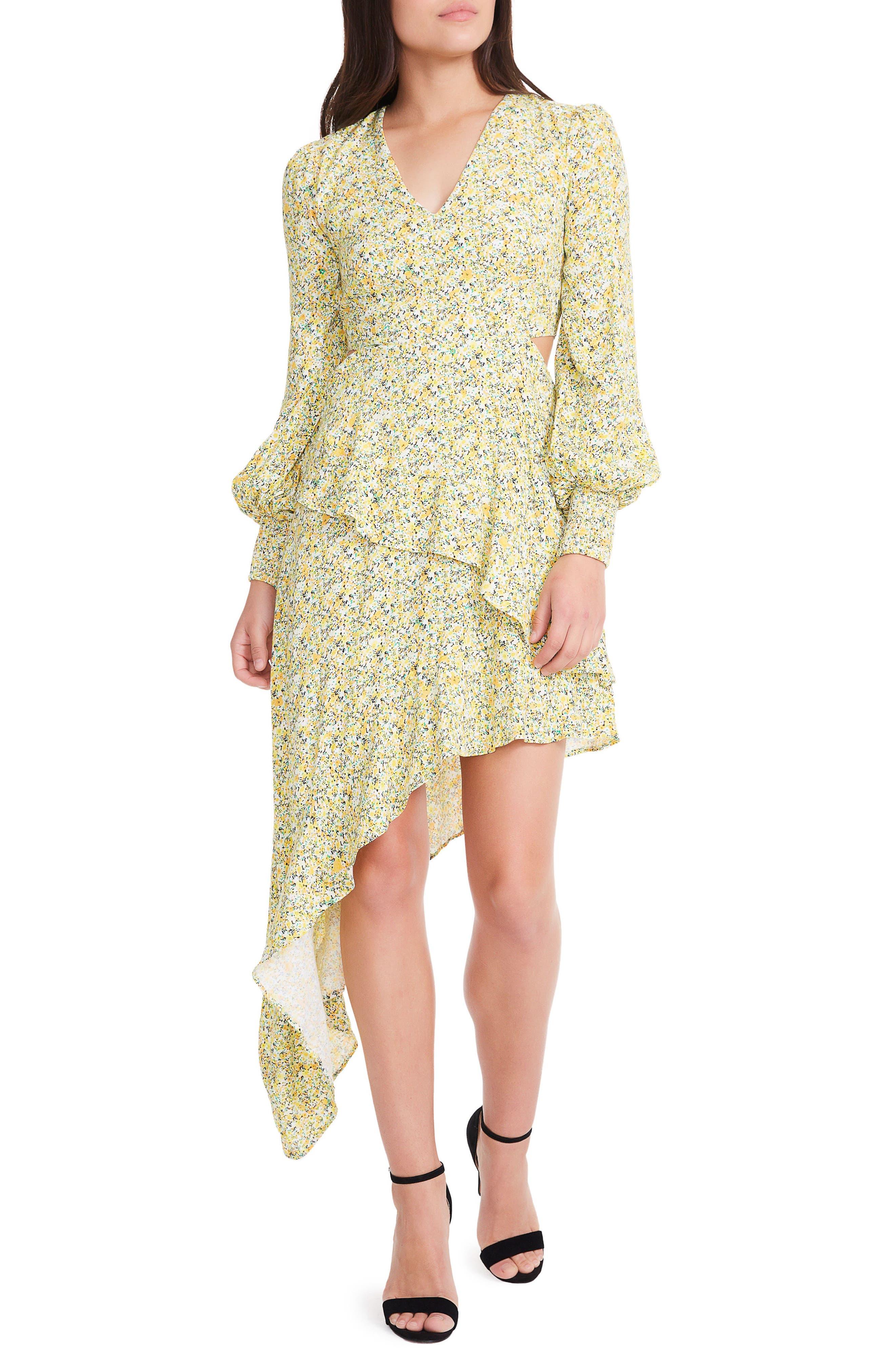 AFRM Mabel Cutout Asymmetrical Dress