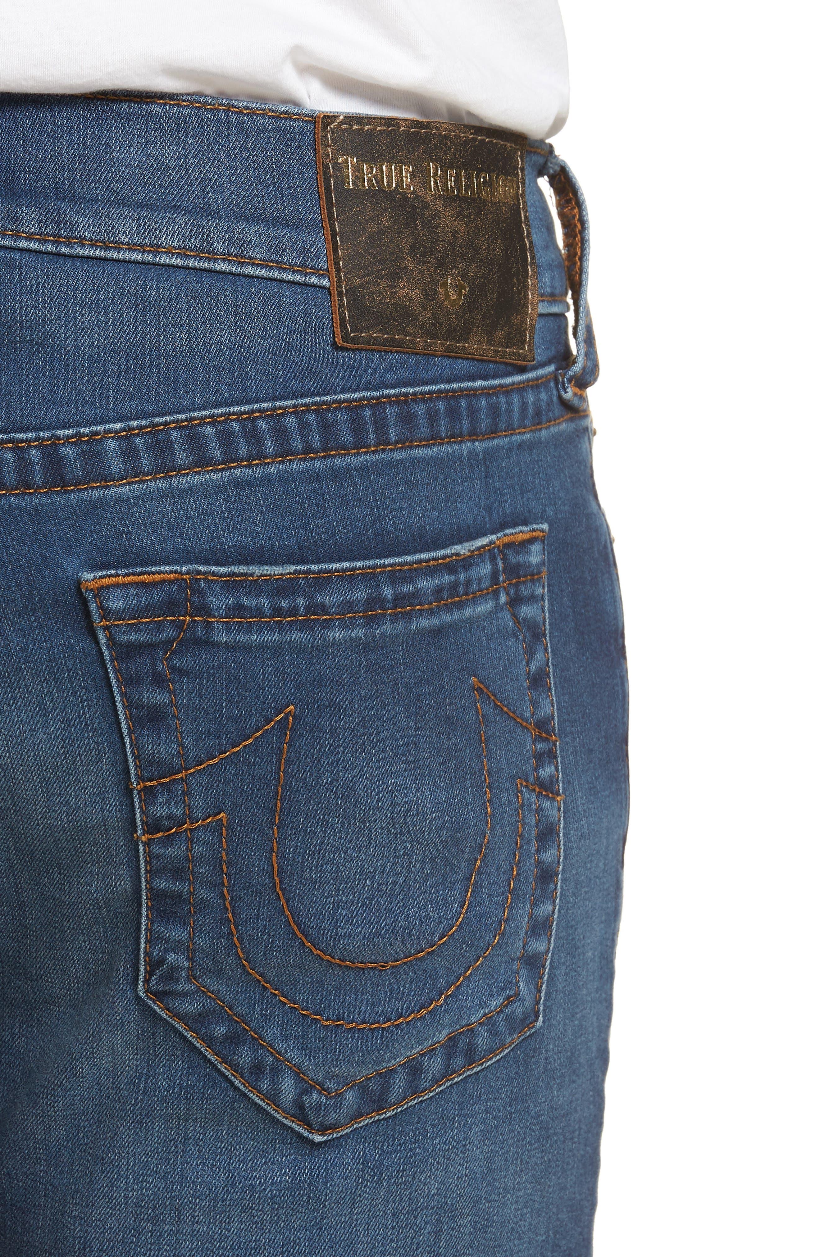 Geno Straight Leg Jeans,                             Alternate thumbnail 4, color,                             Indigo Lake