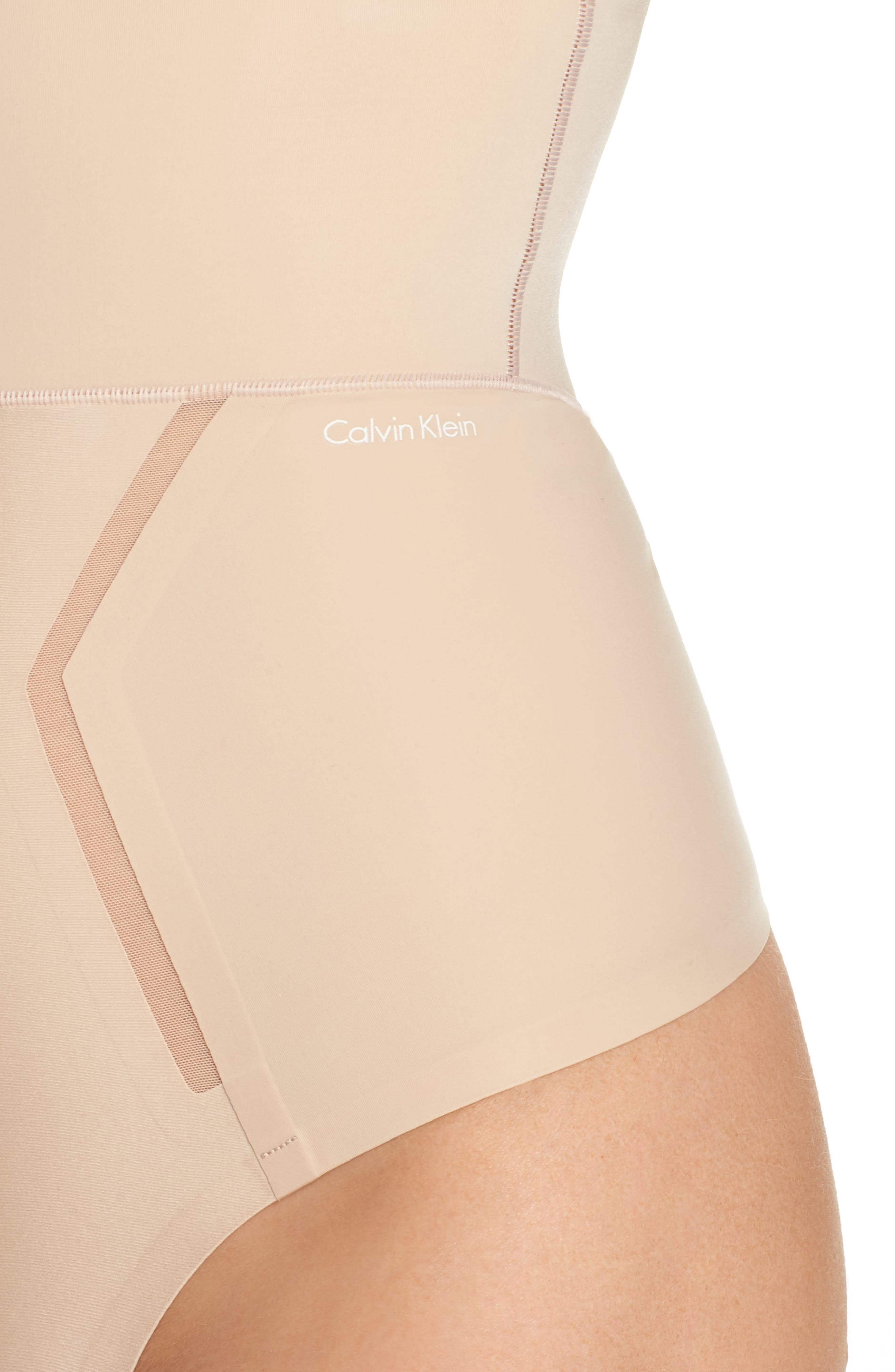 Sculpted Shapewear High Waist Thong,                             Alternate thumbnail 5, color,                             Bare