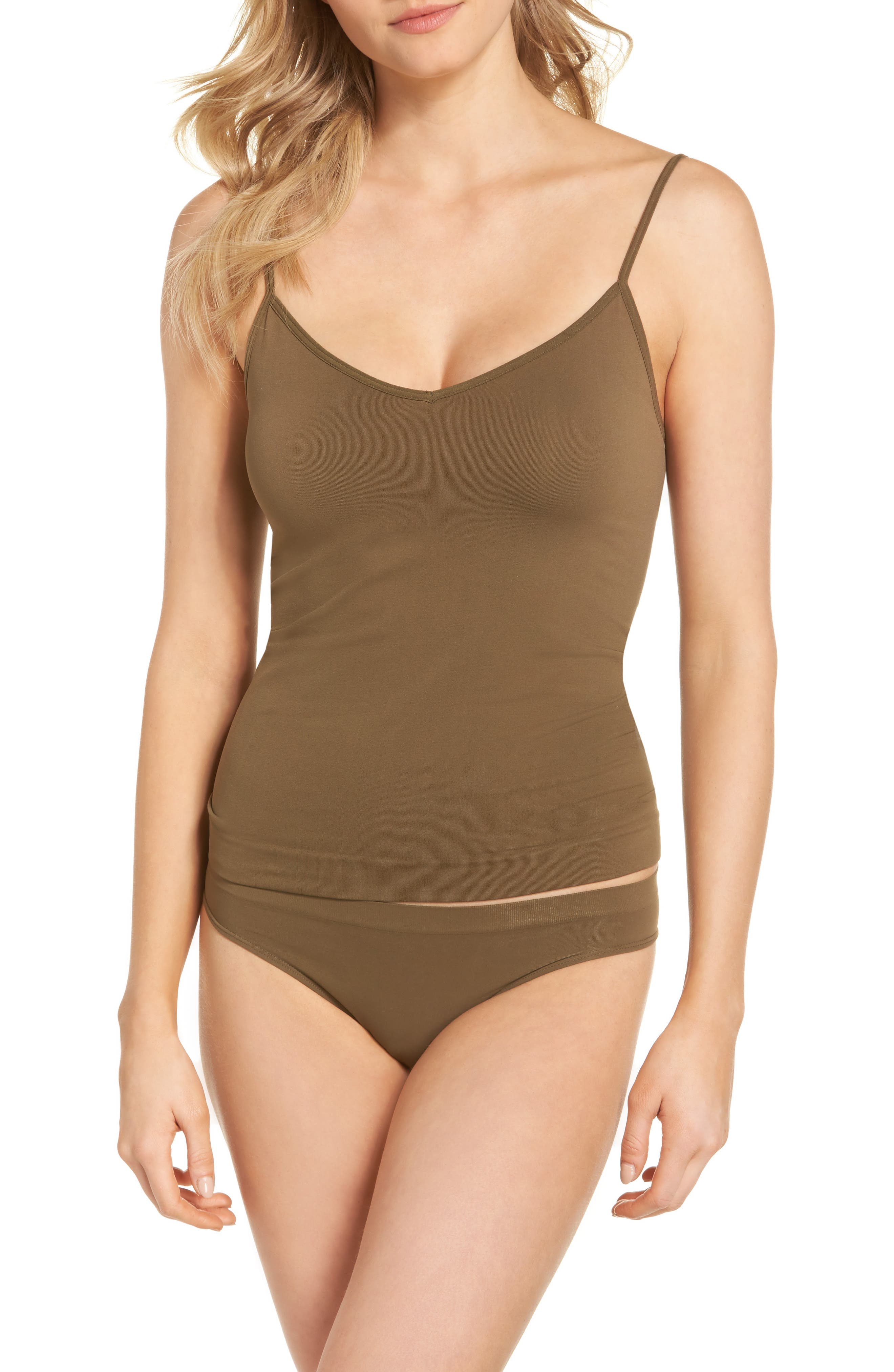 Seamless Two-Way Camisole,                             Alternate thumbnail 4, color,                             Olive Tree