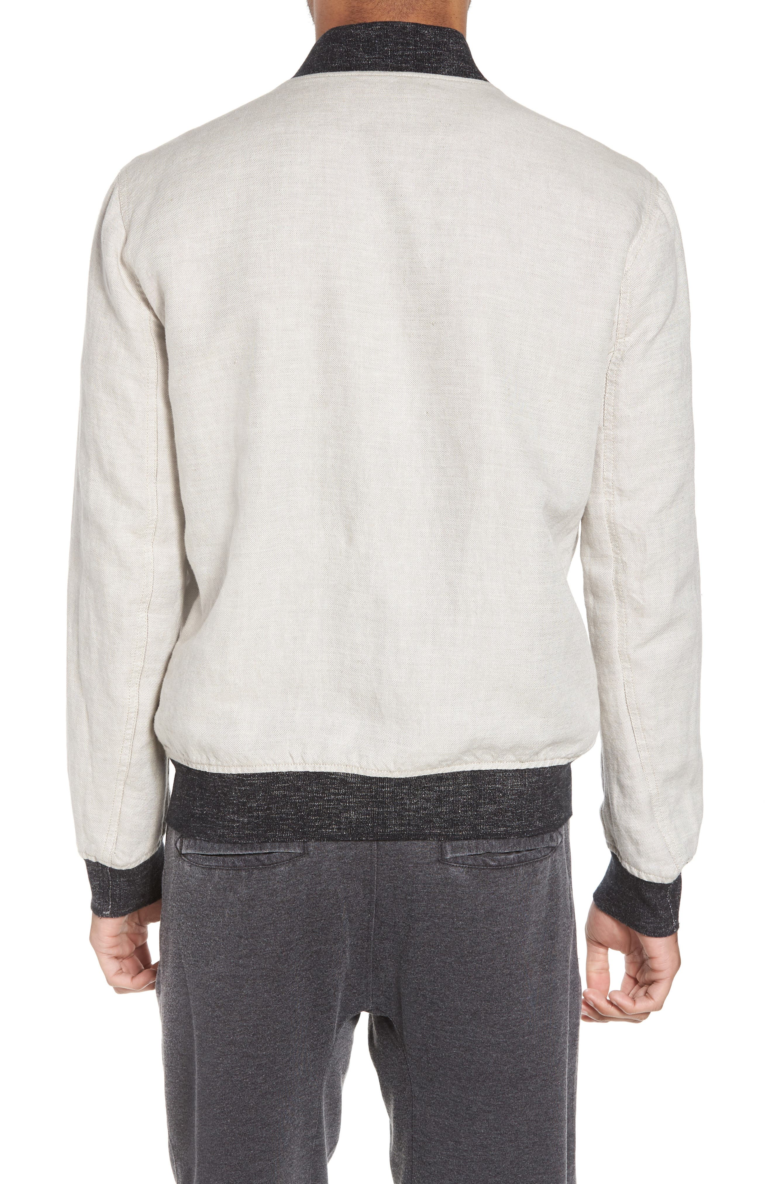 Aged Bomber Jacket,                             Alternate thumbnail 3, color,                             Fossil Grey