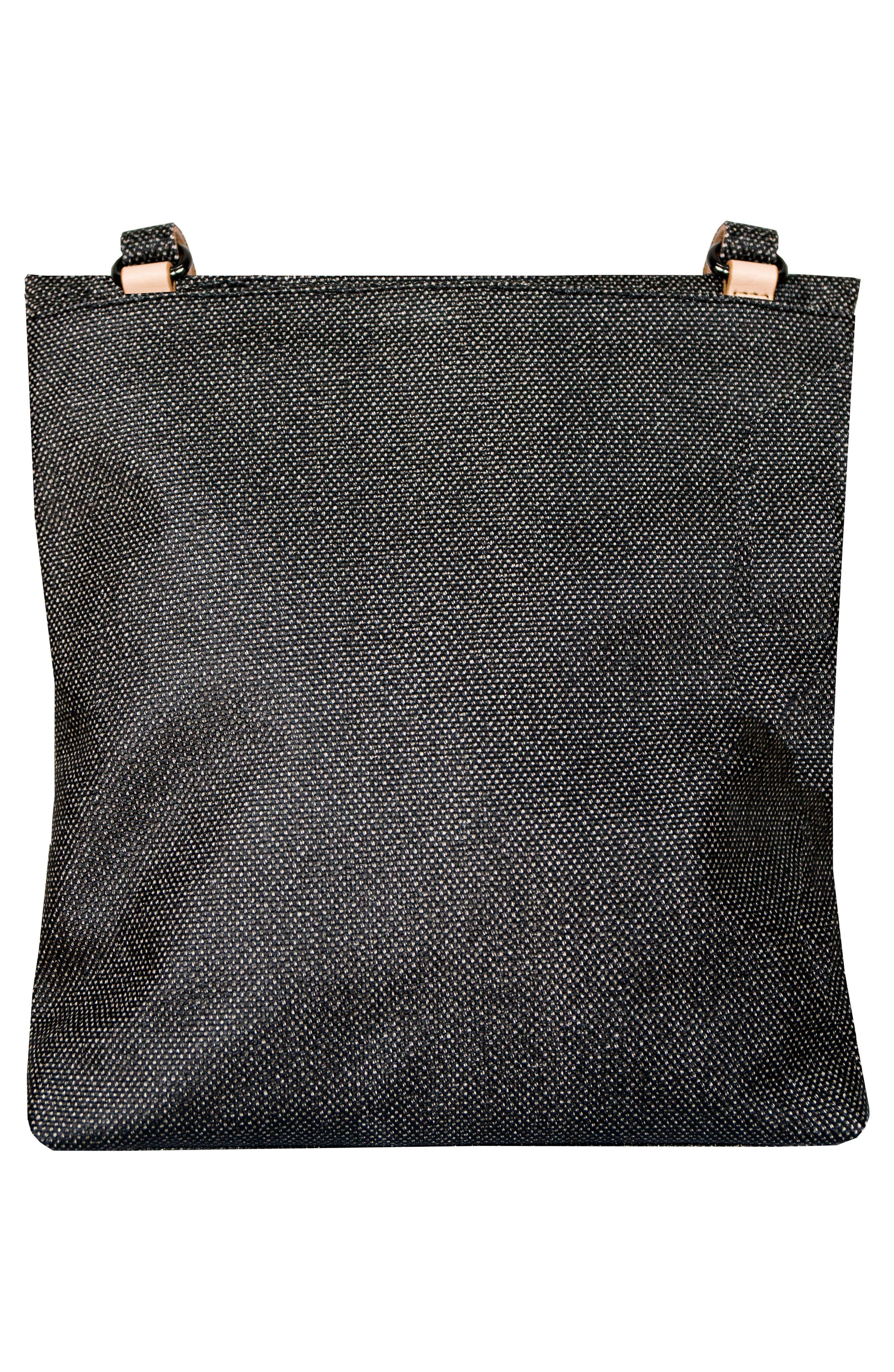 Rebel Coated Canvas Crossbody Bag,                             Alternate thumbnail 3, color,                             Blackstone