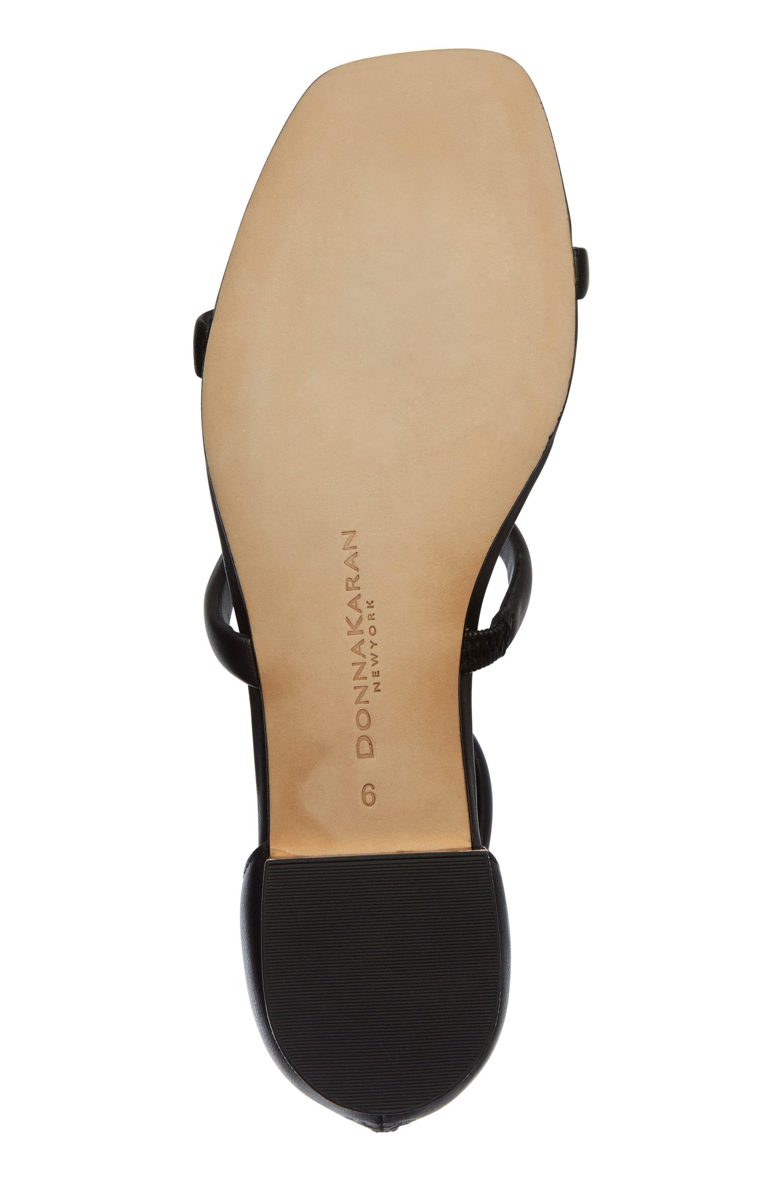 Donna Karan Galina Sandal,                             Alternate thumbnail 6, color,                             Black Leather