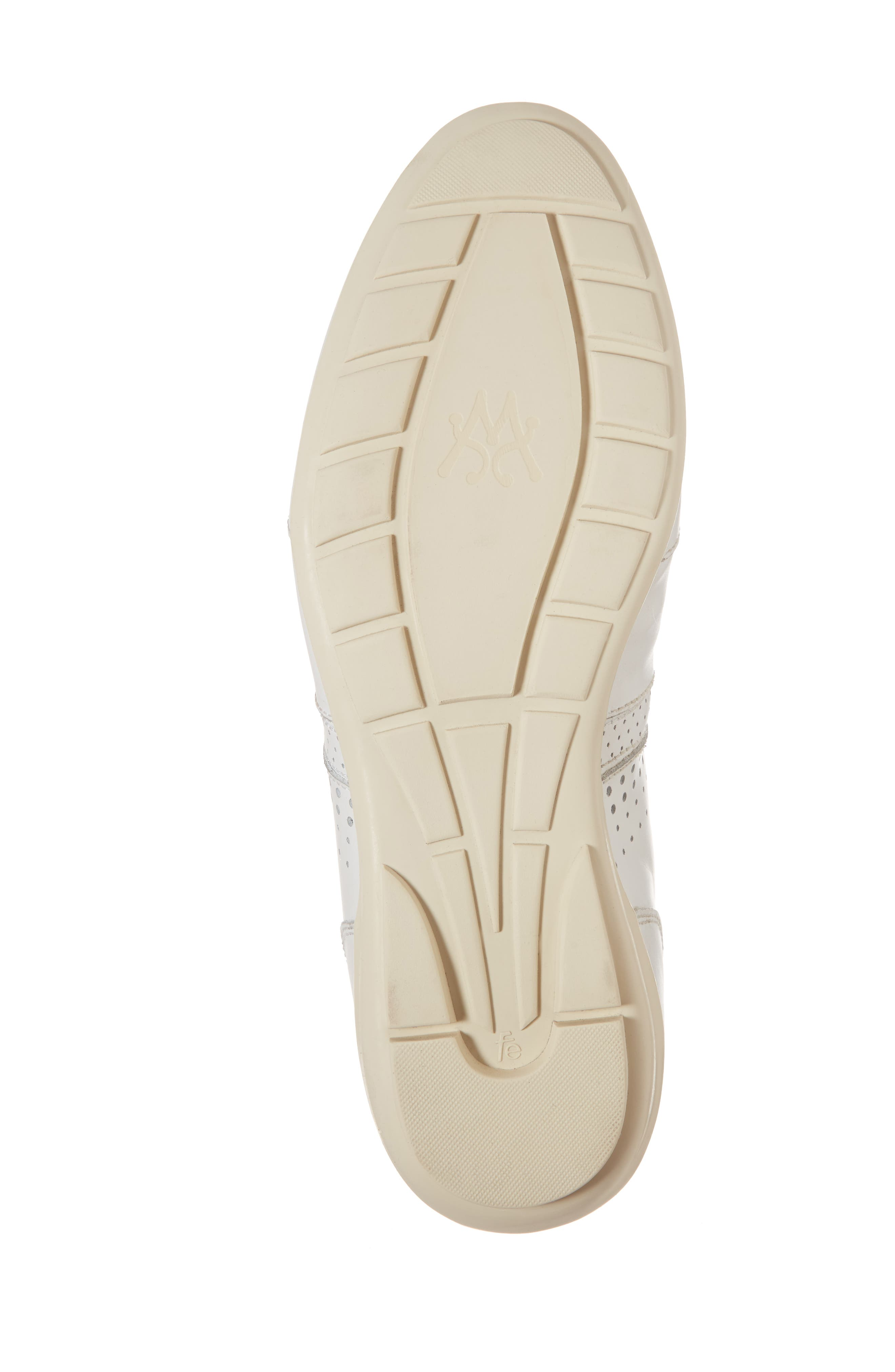 Lozano II Low Top Sneaker,                             Alternate thumbnail 6, color,                             White Leather