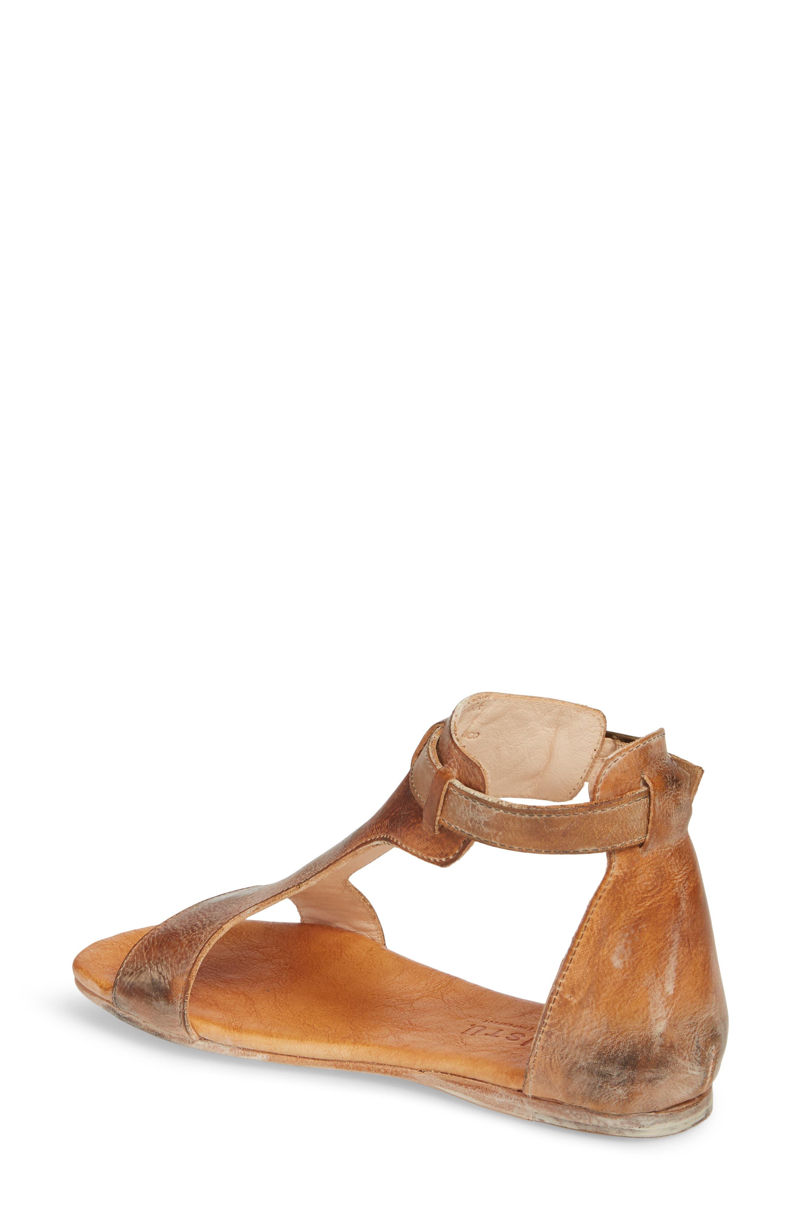 Sable Sandal,                             Alternate thumbnail 2, color,                             Tan/ White Leather