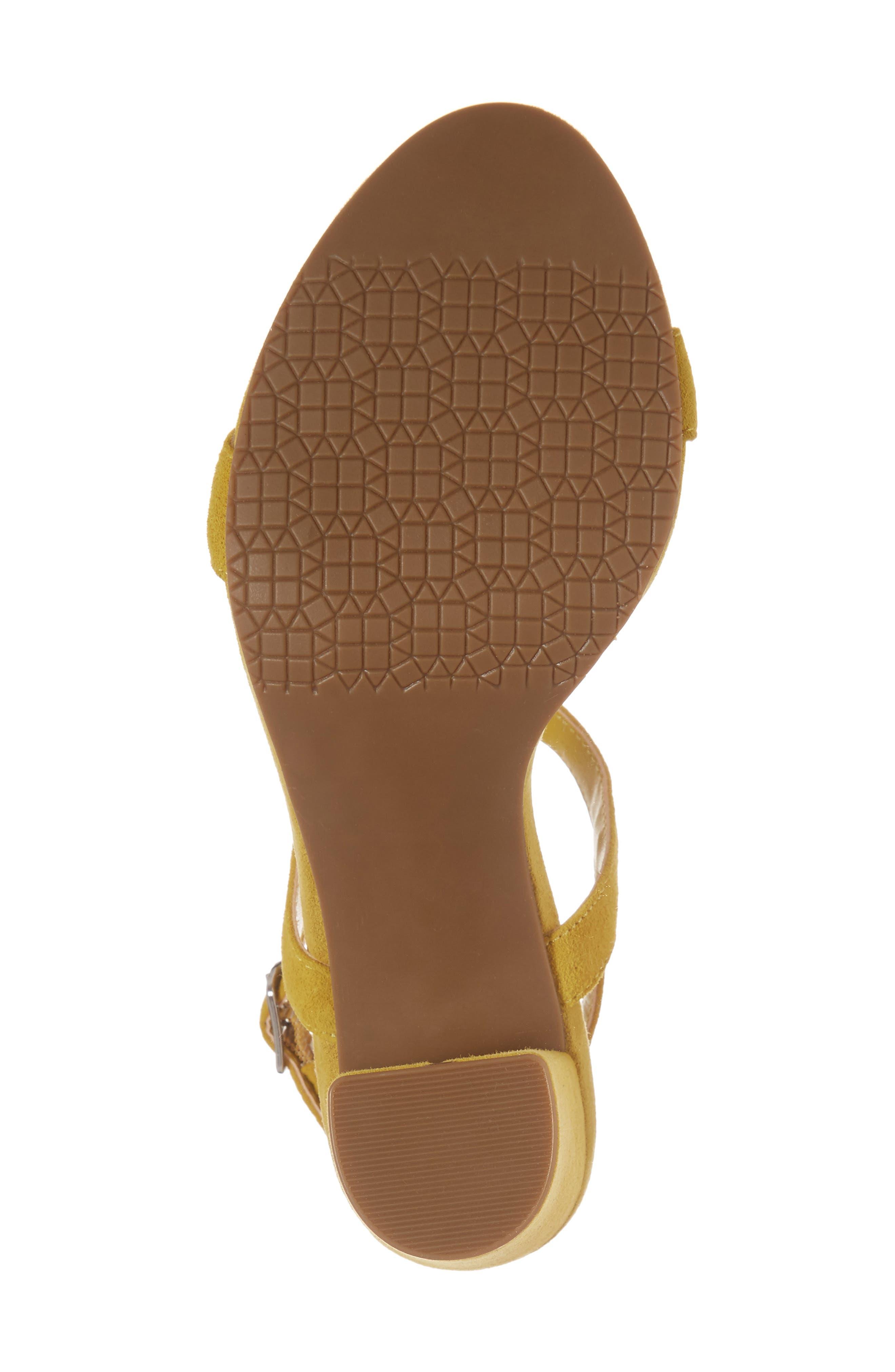 Lula Block Heel Slingback Sandal,                             Alternate thumbnail 6, color,                             Yellow Suede