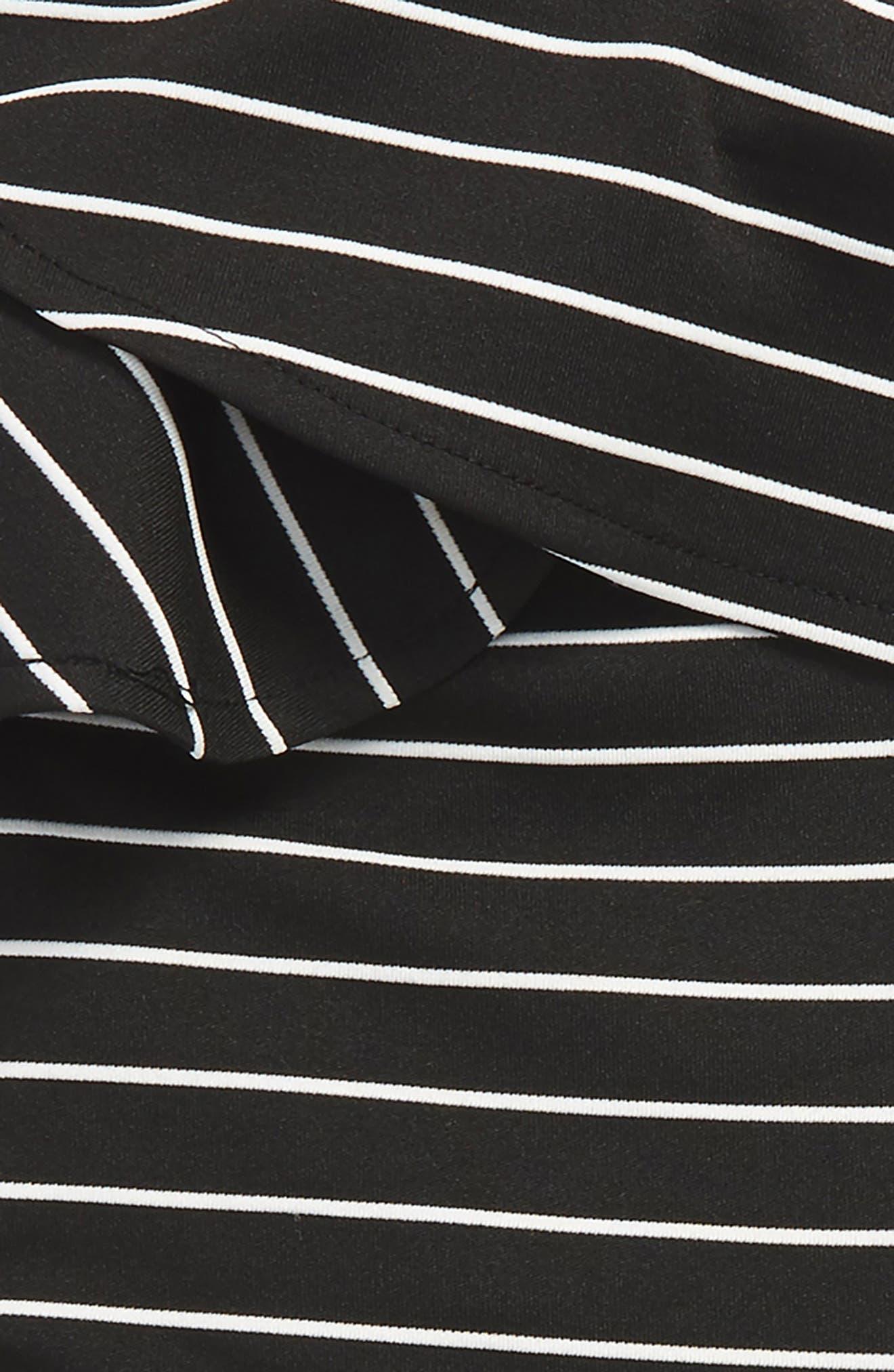 Senna Stripe Asymmetrical Ruffle Dress,                             Alternate thumbnail 3, color,                             Stripe