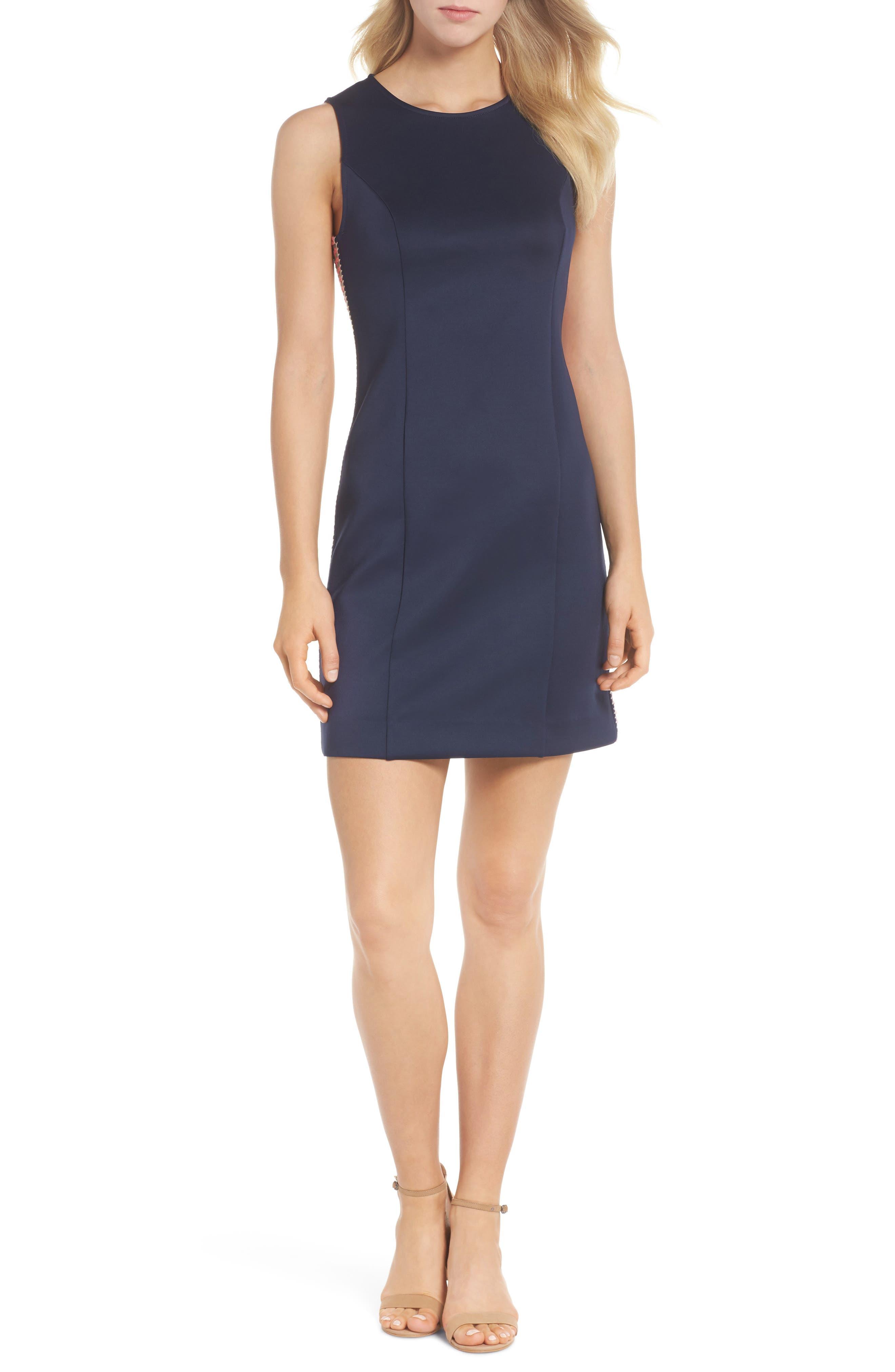 Mila Sheath Dress,                             Main thumbnail 1, color,                             True Navy