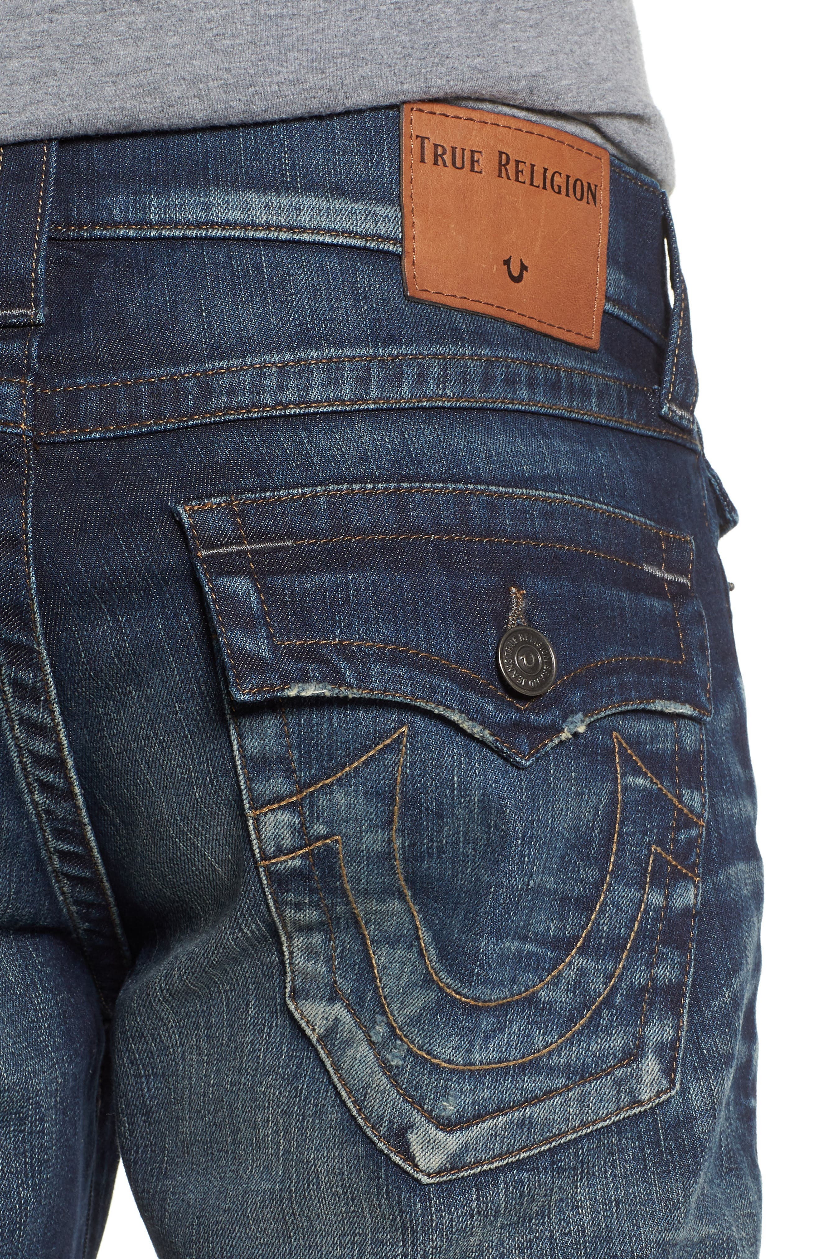 Ricky Relaxed Fit Jeans,                             Alternate thumbnail 4, color,                             Combat Blues