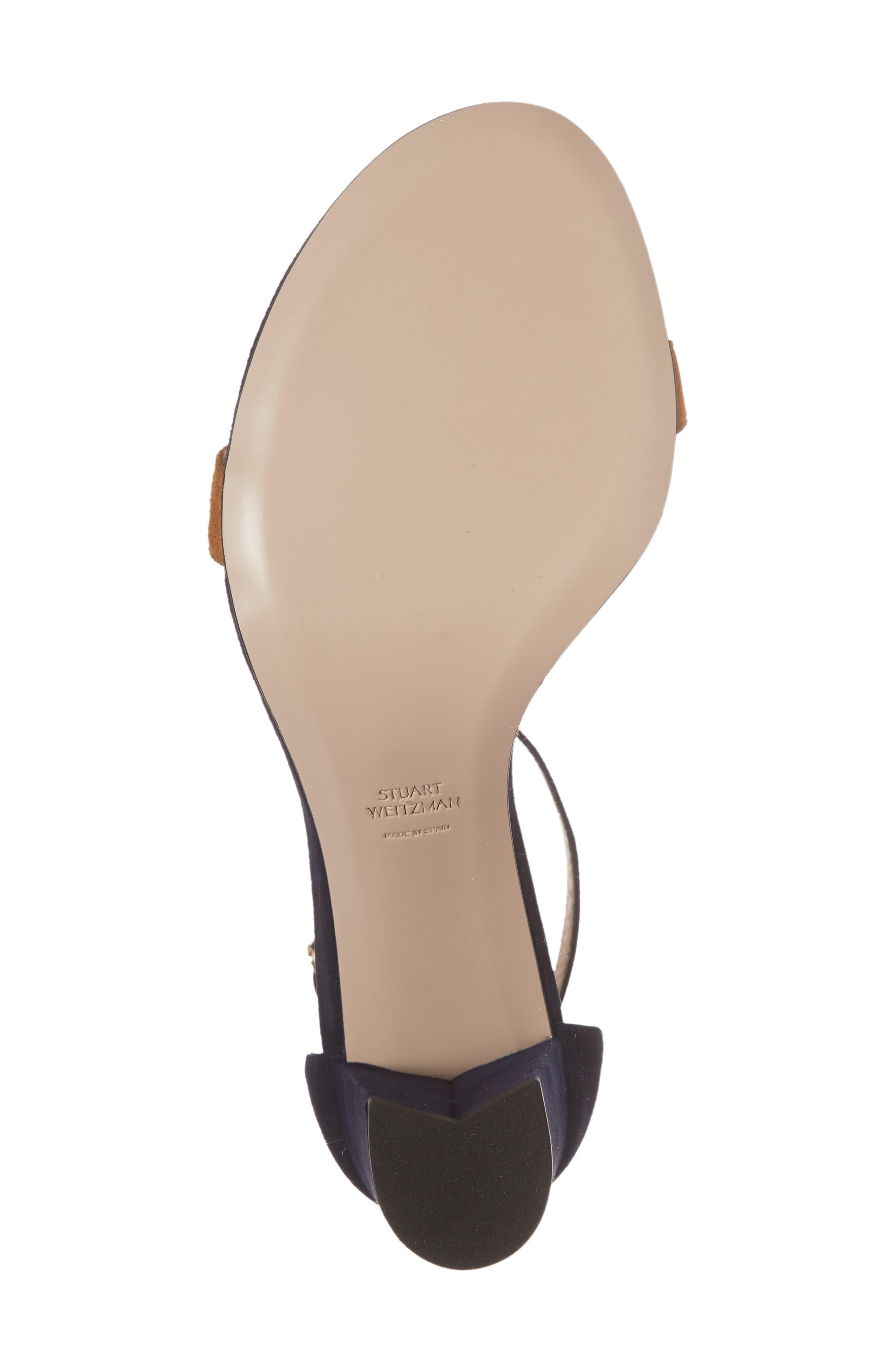 Alternate Image 6  - Stuart Weitzman NearlyNude Ankle Strap Sandal (Women)