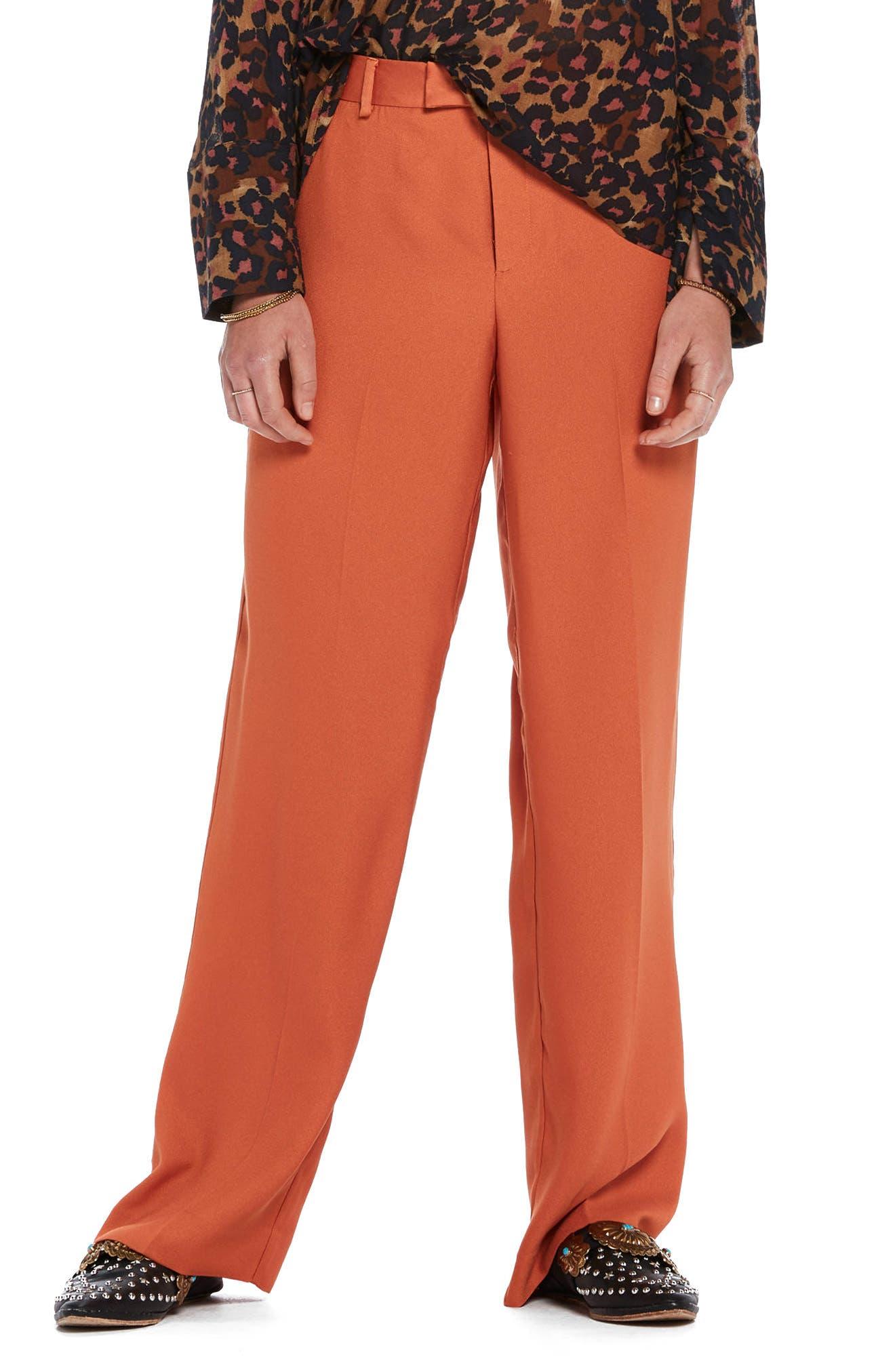 Wide Leg Pants,                             Main thumbnail 1, color,                             Color 2018 Tiger Orange