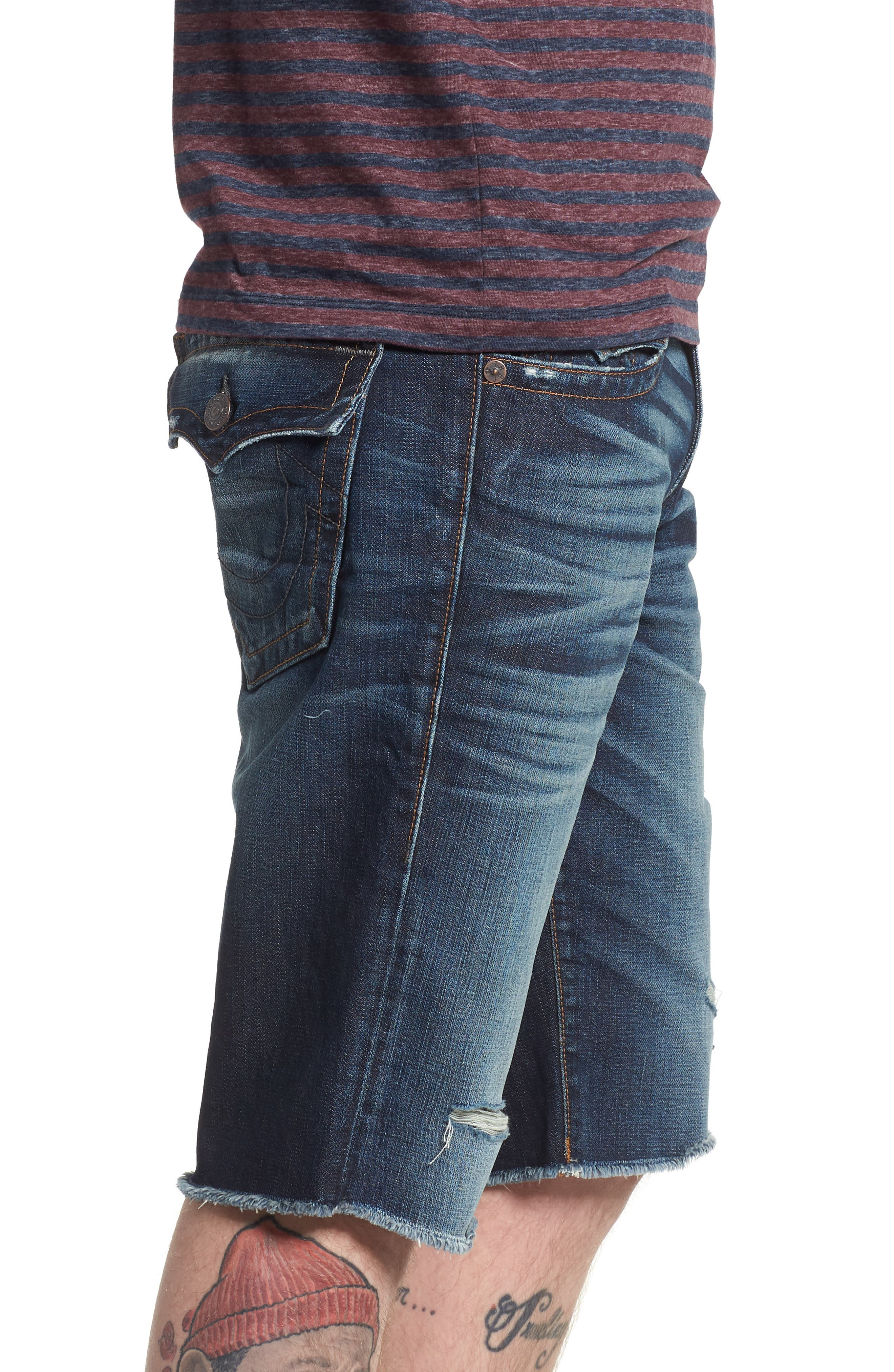 Ricky Relaxed Fit Denim Shorts,                             Alternate thumbnail 3, color,                             Eqrd Mignight Menace