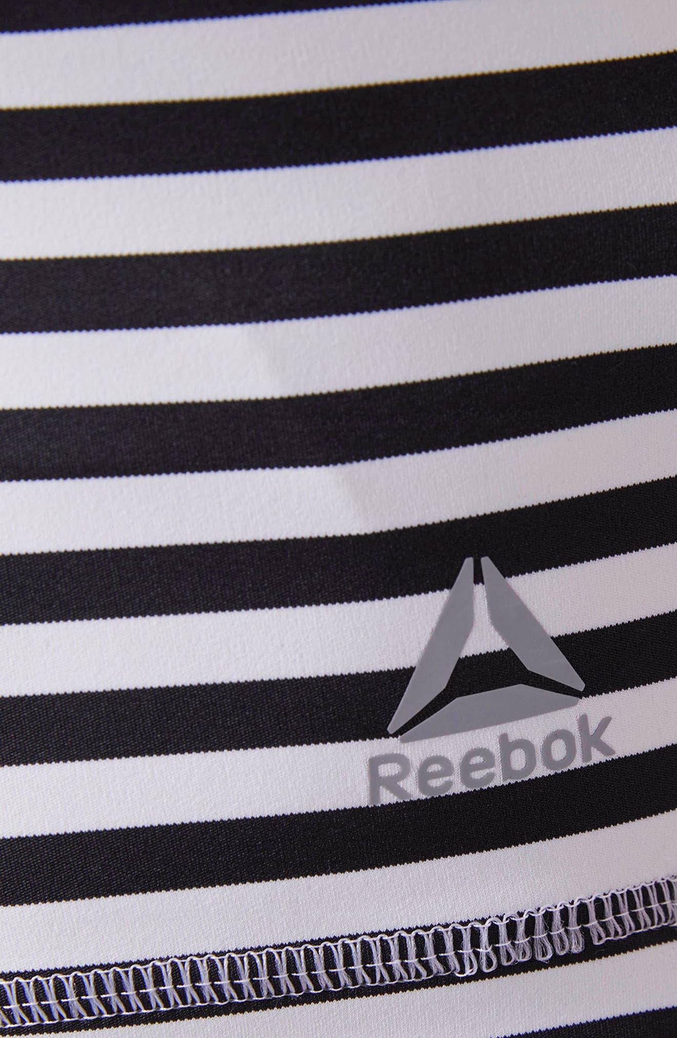 Crop Stripe Tank,                             Alternate thumbnail 7, color,                             White/ Black