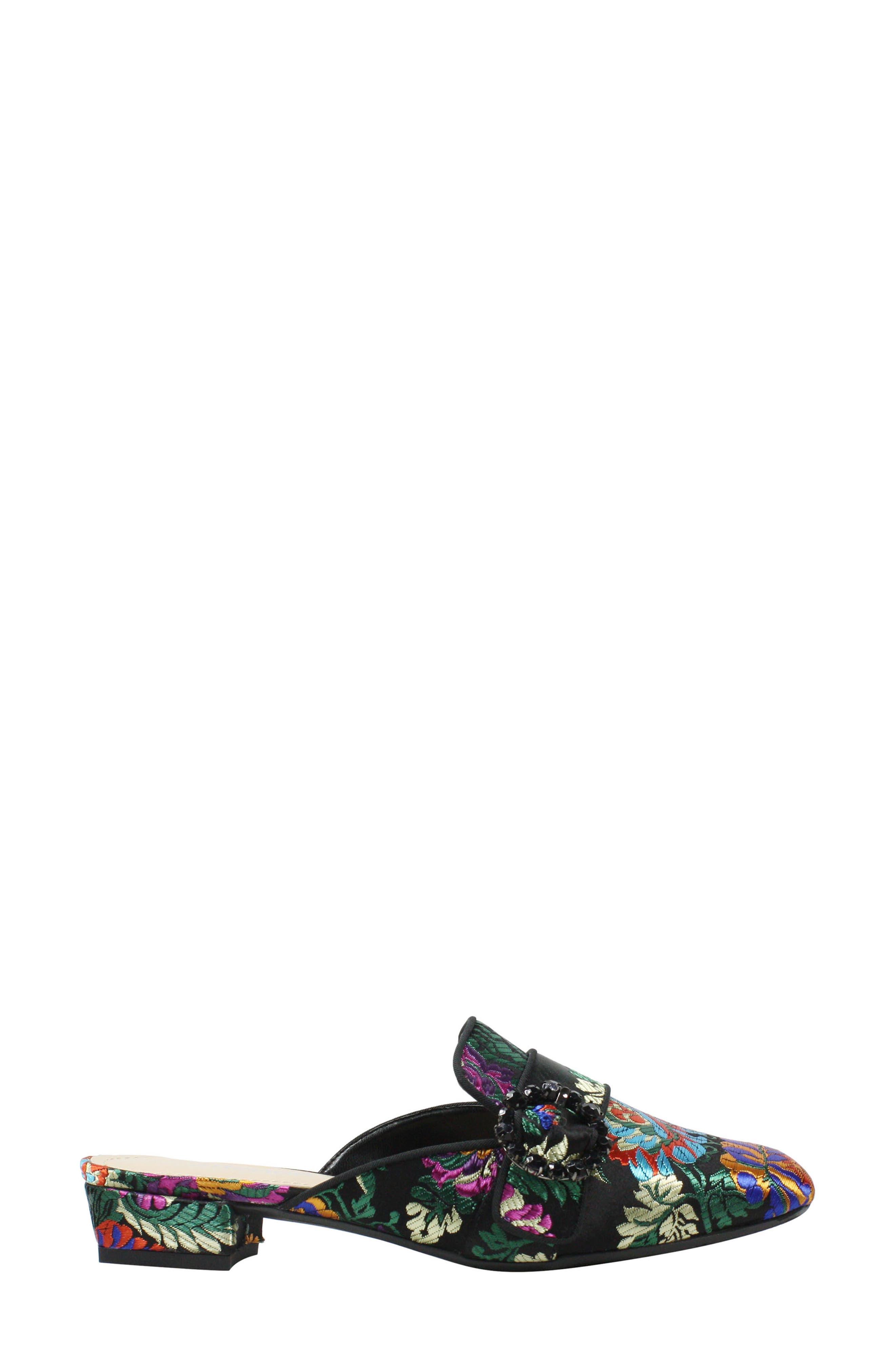 Senonches Mule,                             Alternate thumbnail 3, color,                             Black Multi Fabric