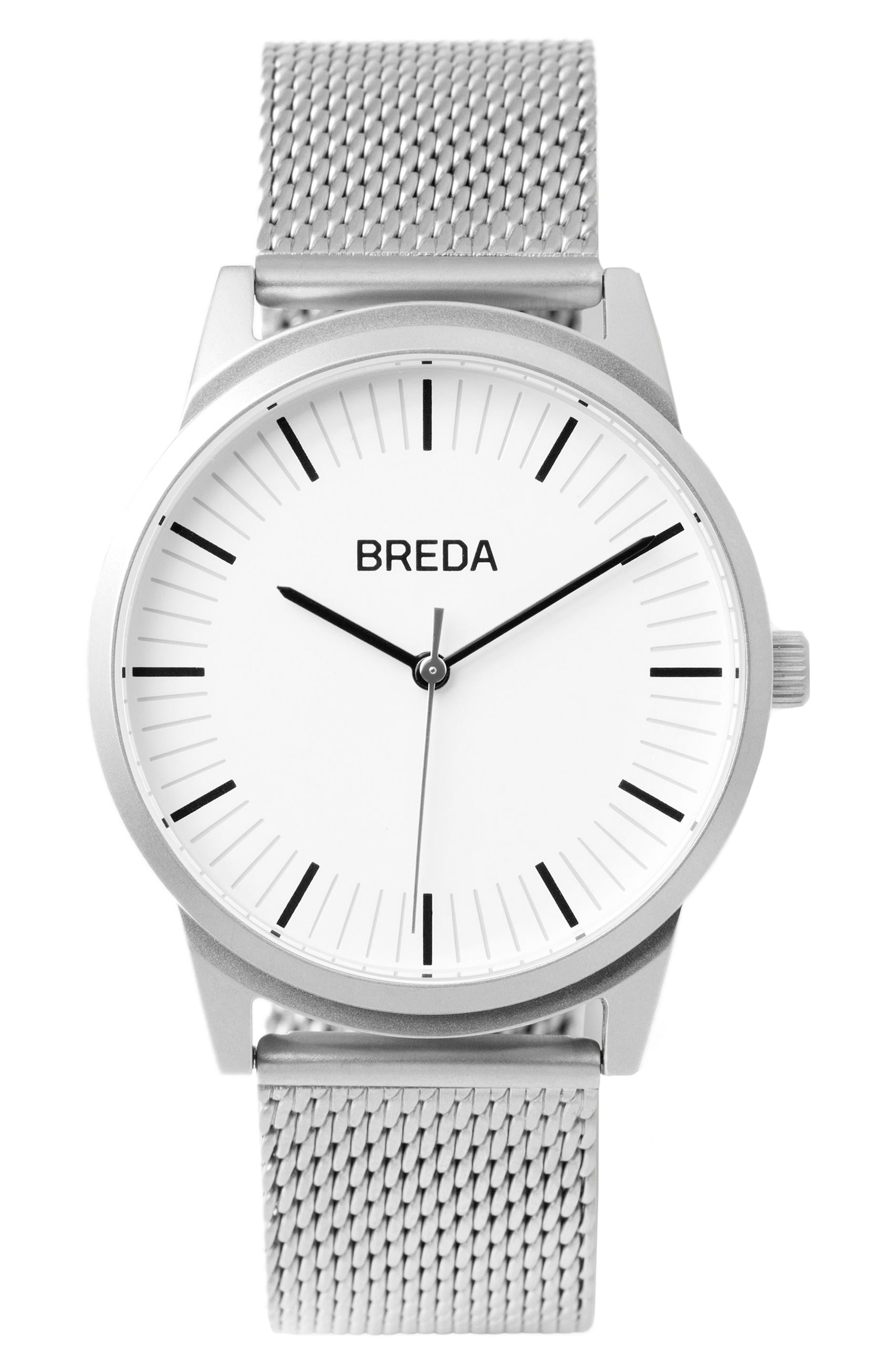 Main Image - BREDA Bresson Mesh Strap Watch, 39mm