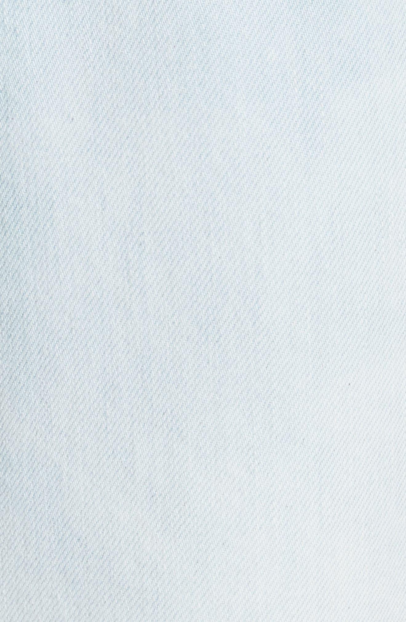 Alternate Image 5  - La Vie Rebecca Taylor Crop Wide Leg Jeans (Nuage Wash)