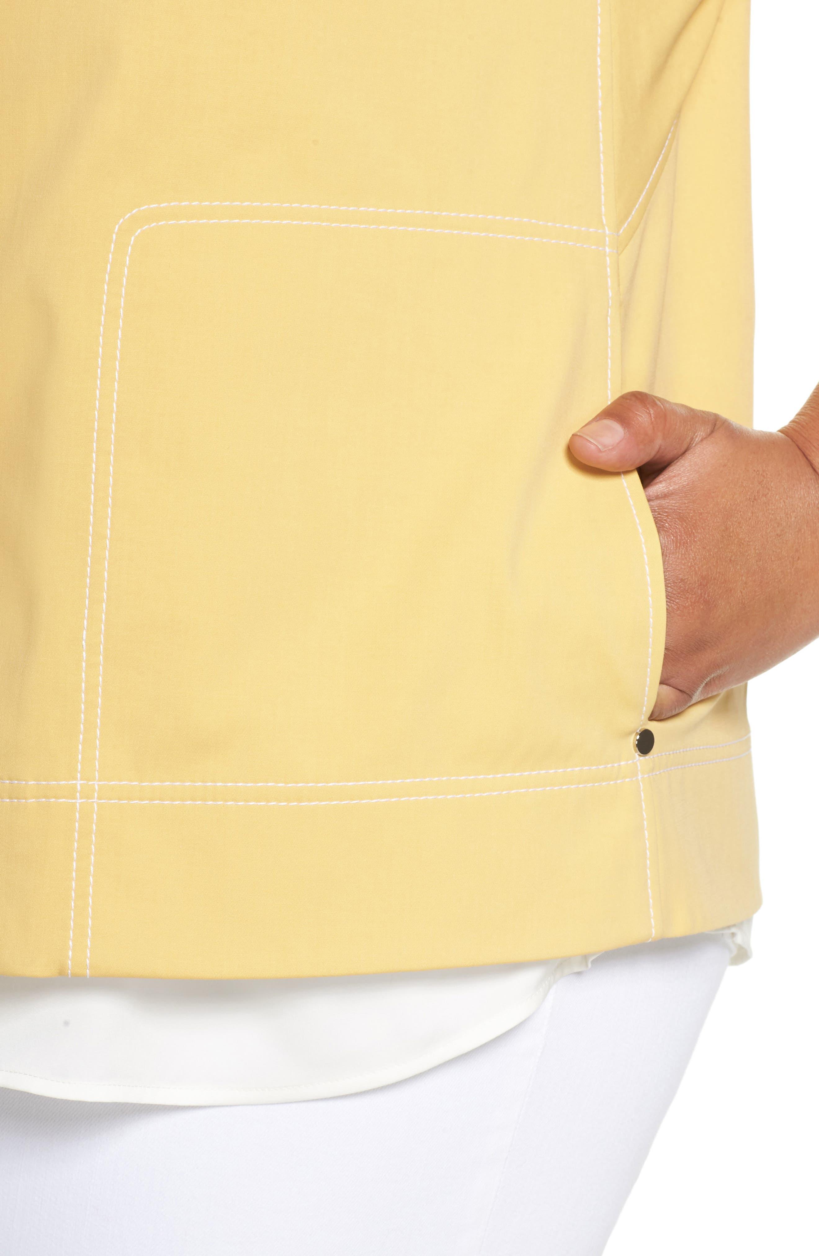 Milo Zip Jacket,                             Alternate thumbnail 4, color,                             Sienna Yellow
