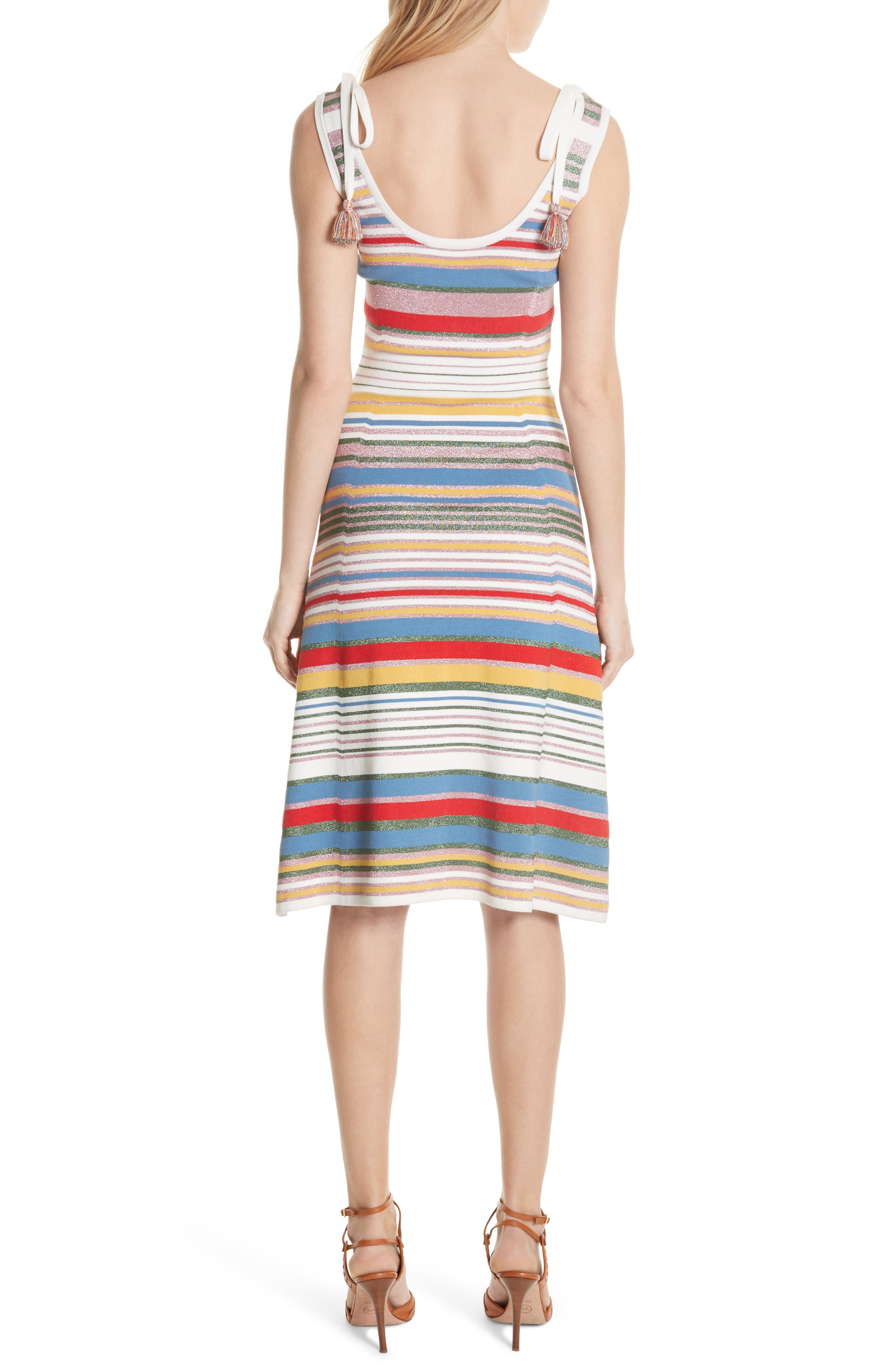 Dulce Glitter Stripe Dress,                             Alternate thumbnail 2, color,                             Multi