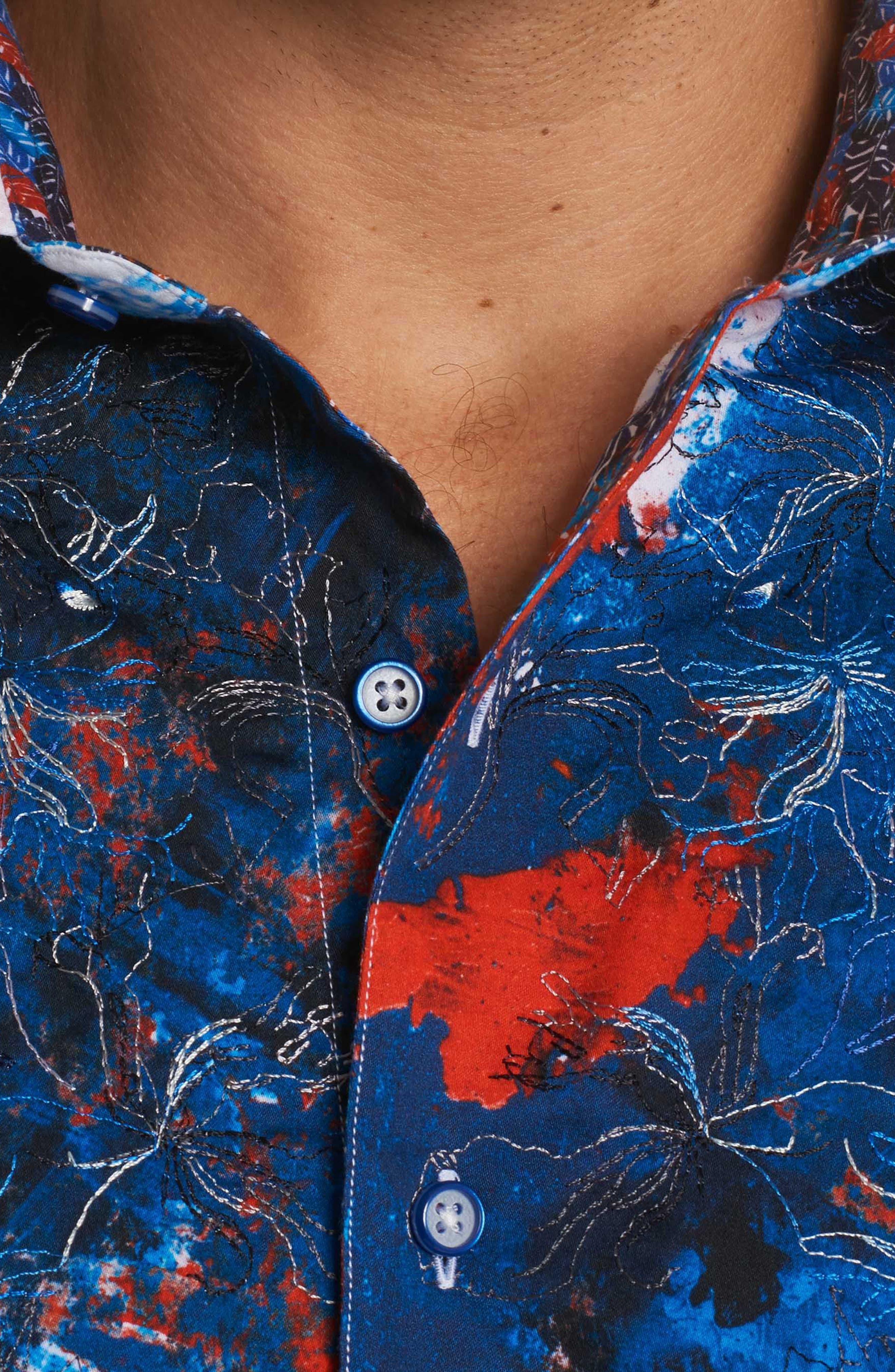 Calzada Classic Fit Sport Shirt,                             Alternate thumbnail 5, color,                             Multi