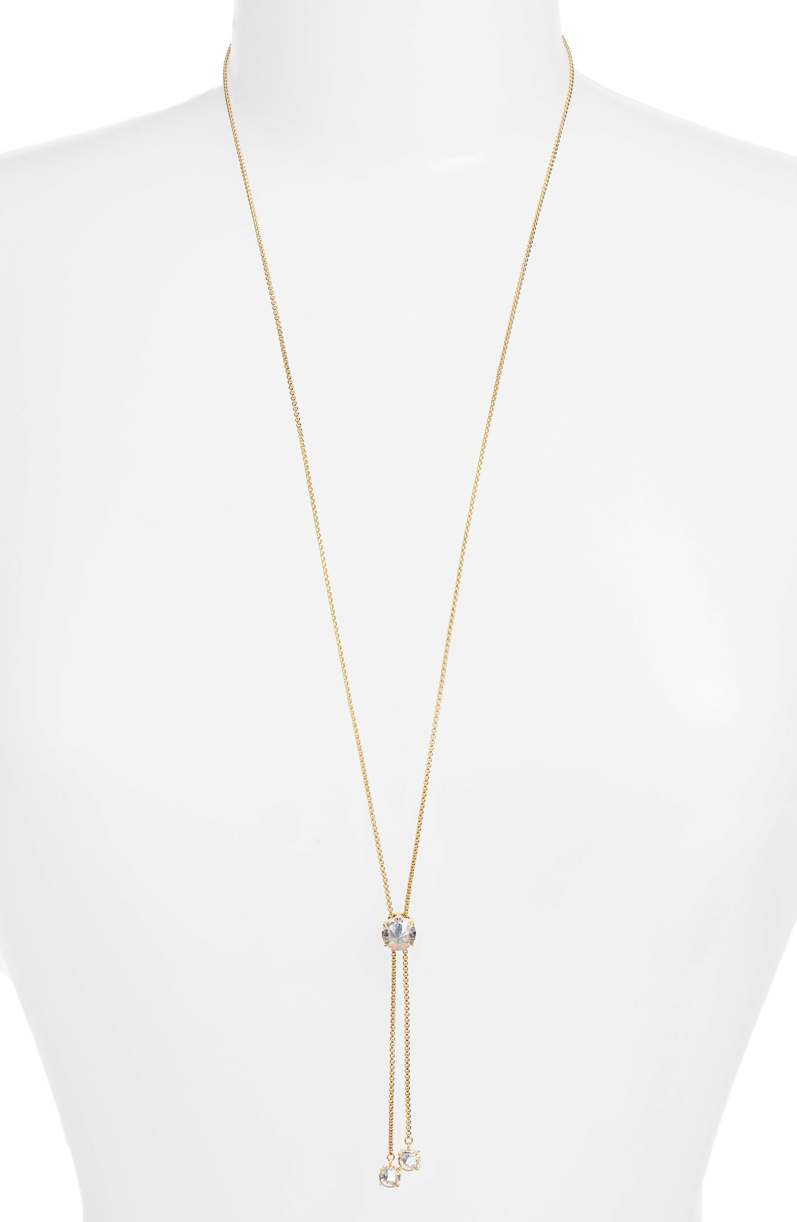 Slider Sparkle Necklace,                         Main,                         color, Gold