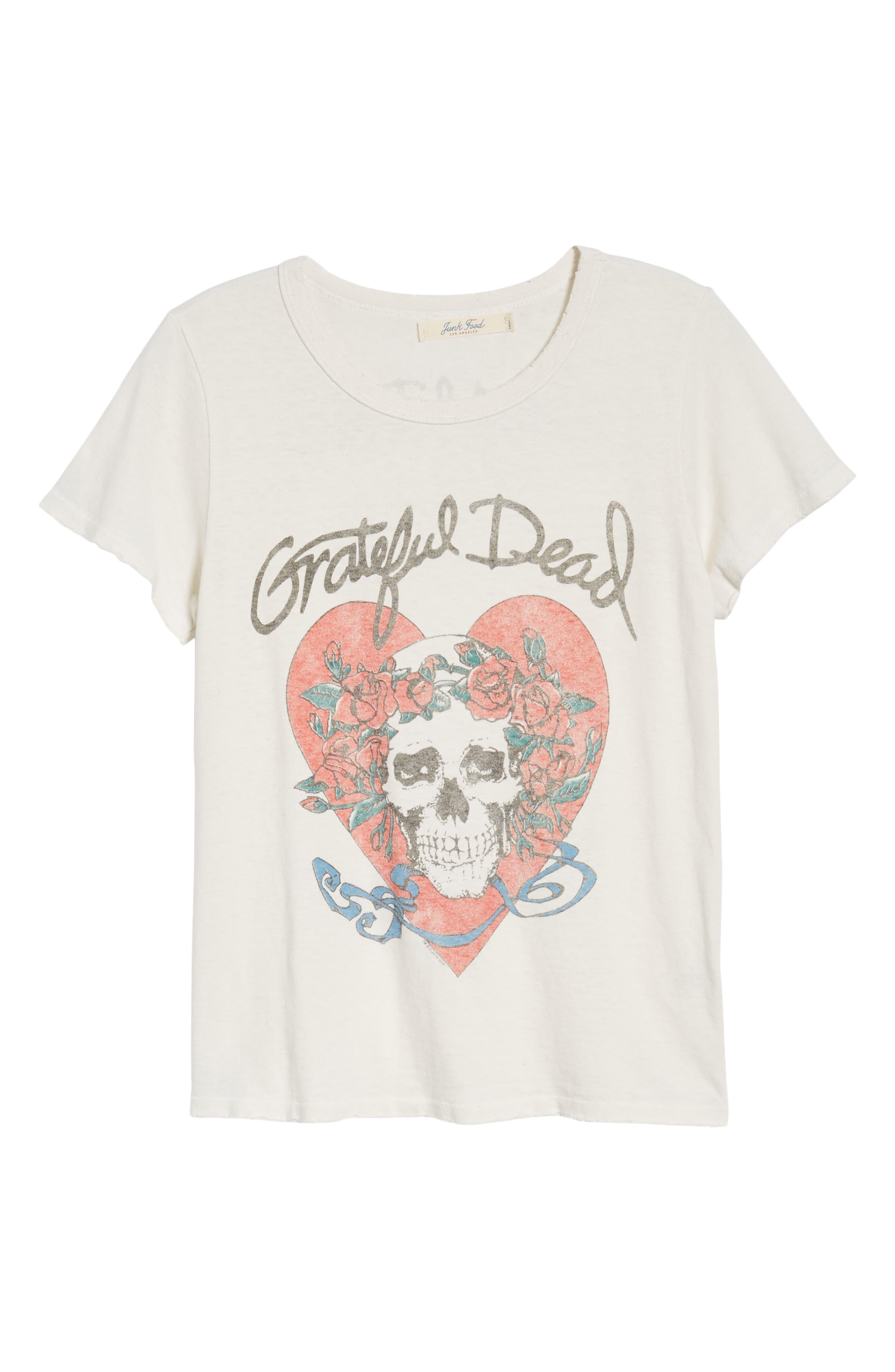 Grateful Dead Tee,                             Alternate thumbnail 6, color,                             Vintage White