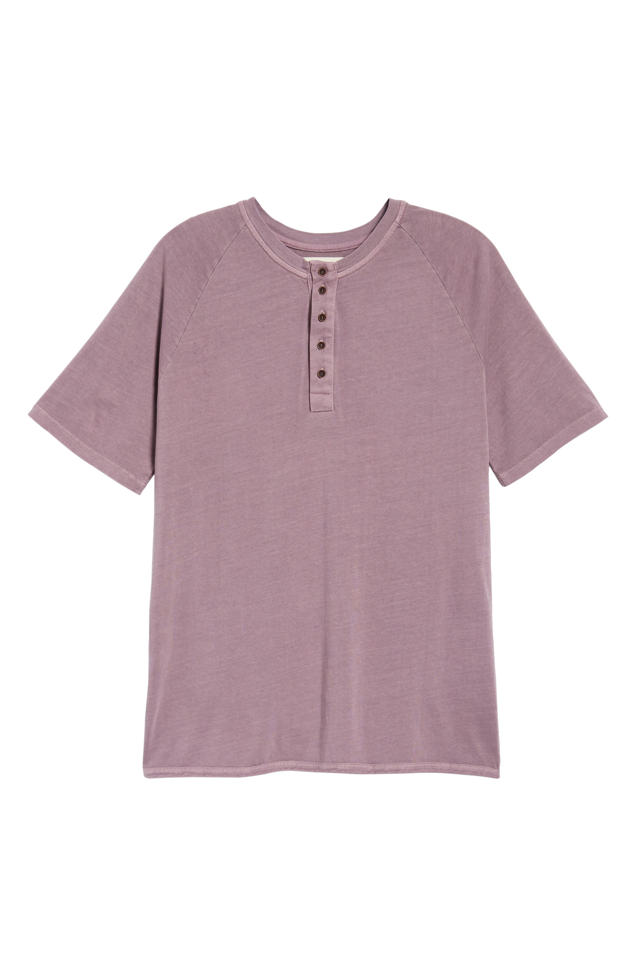 Short Sleeve Henley,                             Alternate thumbnail 6, color,                             Wild Rose