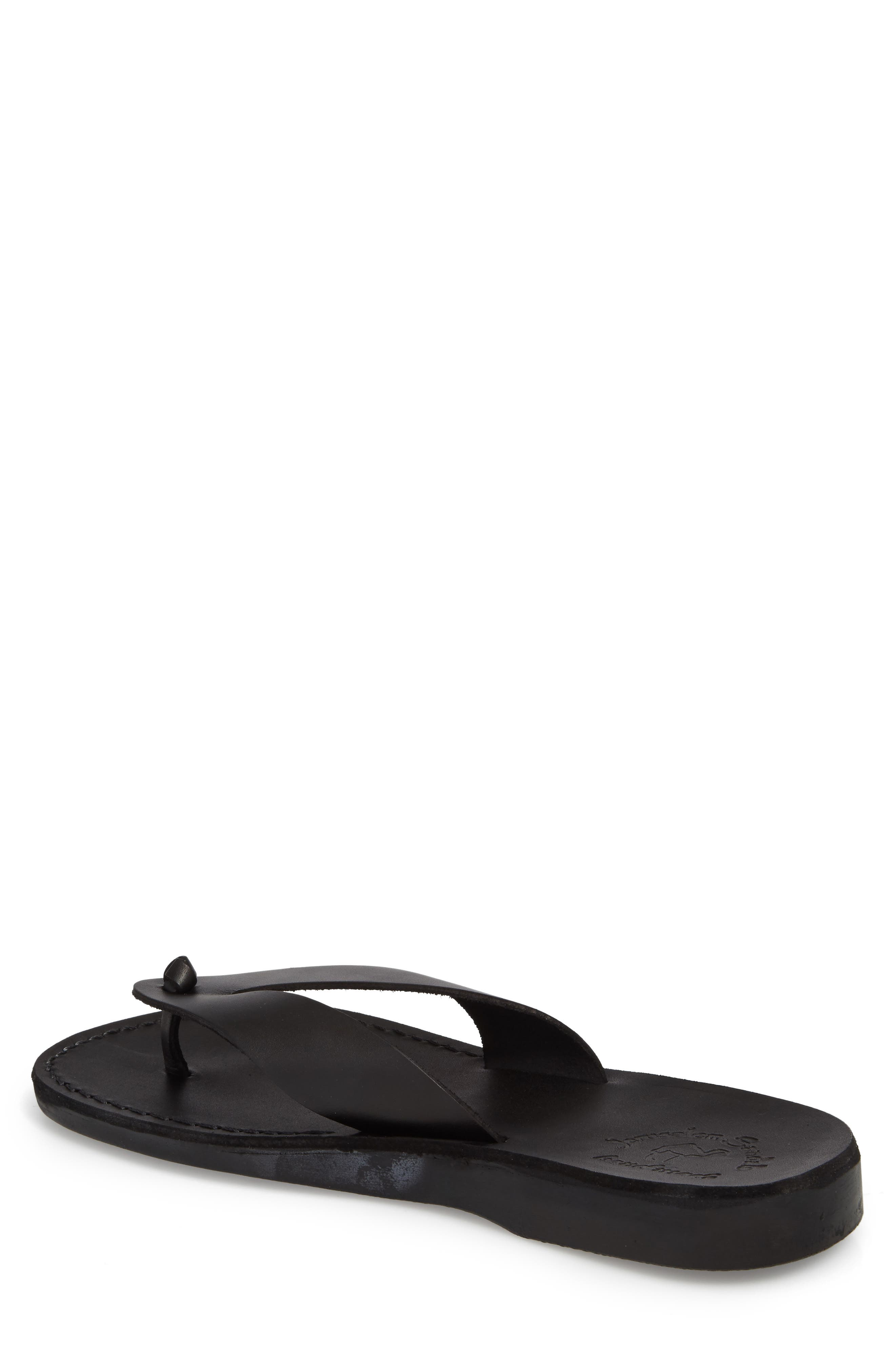 Solomon Flip Flop,                             Alternate thumbnail 2, color,                             Black Leather