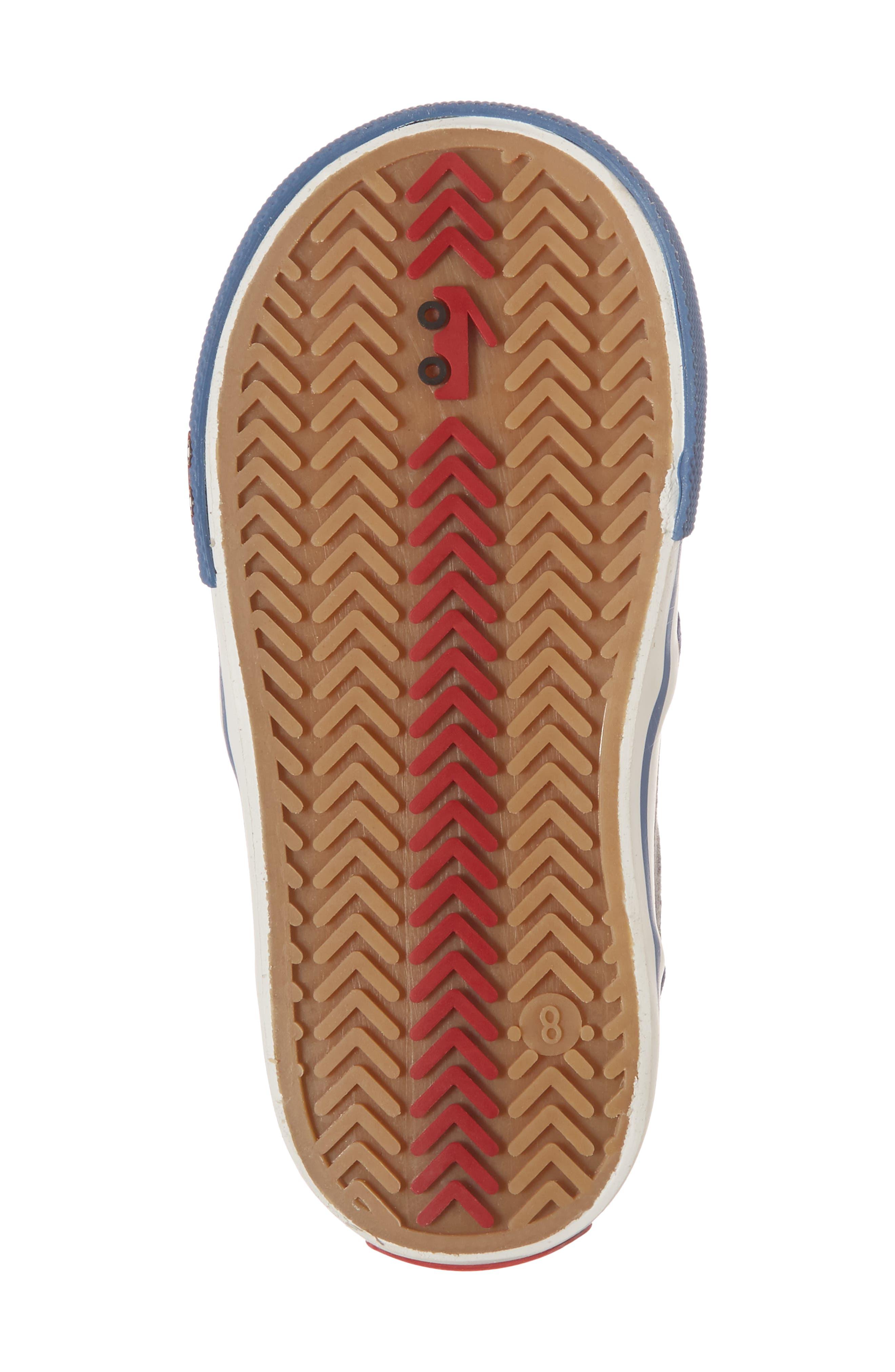Slater Colorblock Slip-On Sneaker,                             Alternate thumbnail 6, color,                             Gray/ Blue