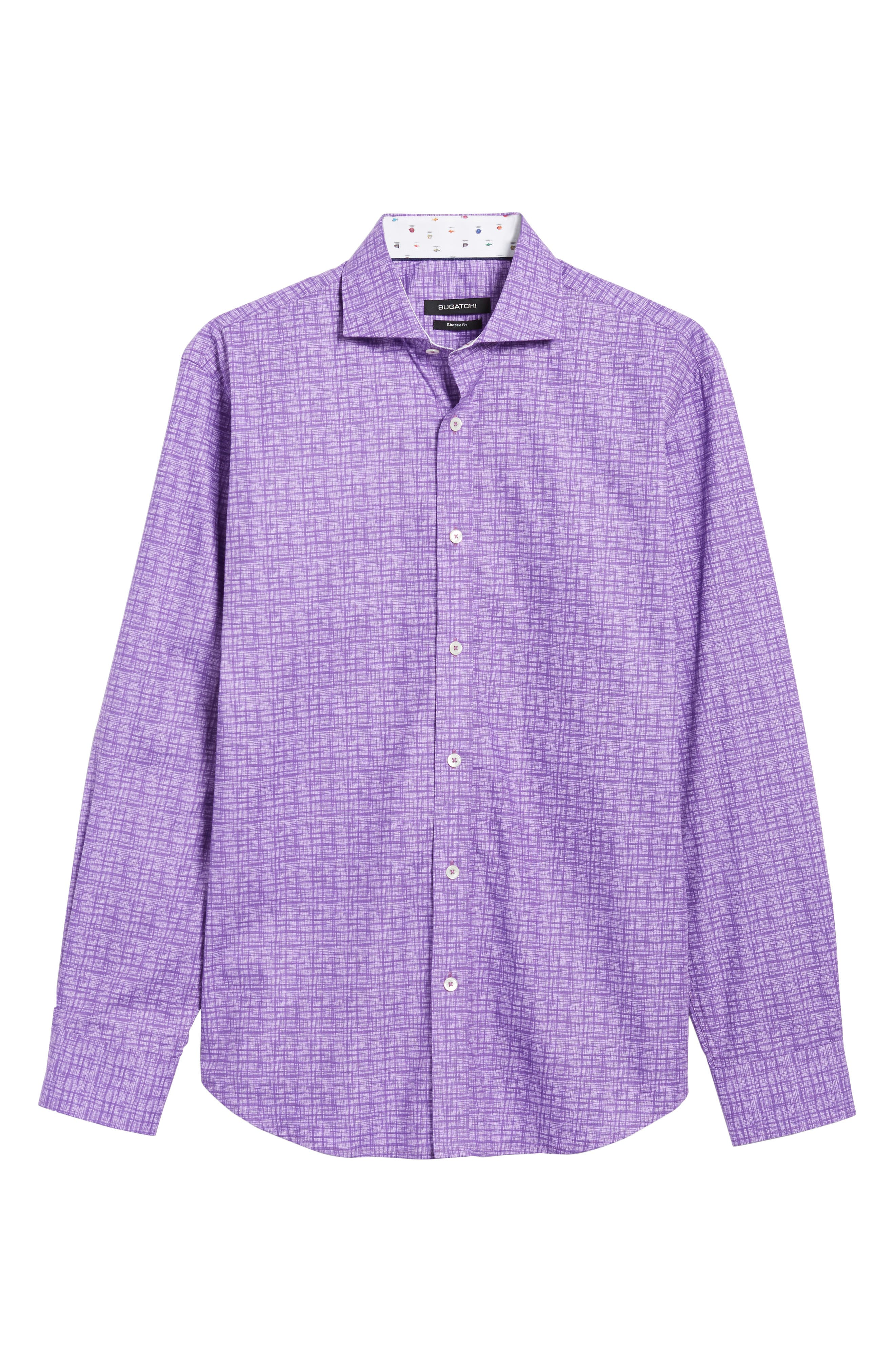 Freehand Shaped Fit Sport Shirt,                             Alternate thumbnail 6, color,                             Orchid